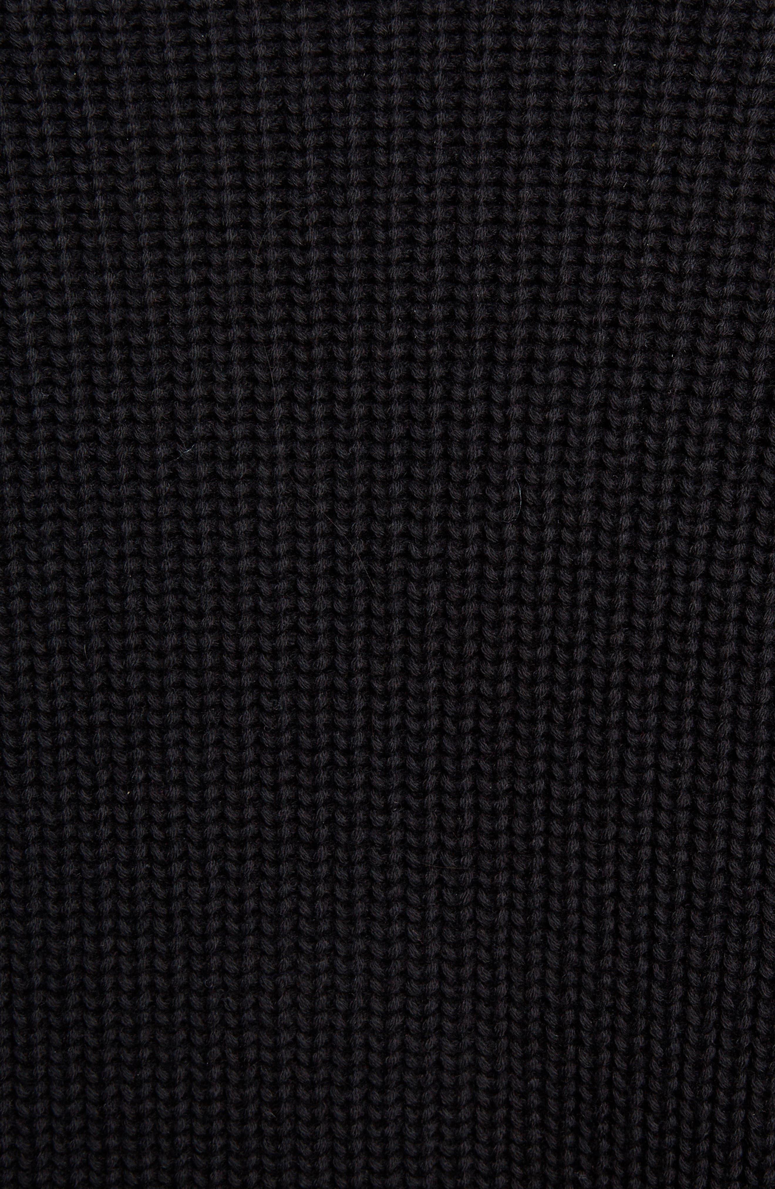 Sport Long Zip Cardigan,                             Alternate thumbnail 5, color,                             BLACK