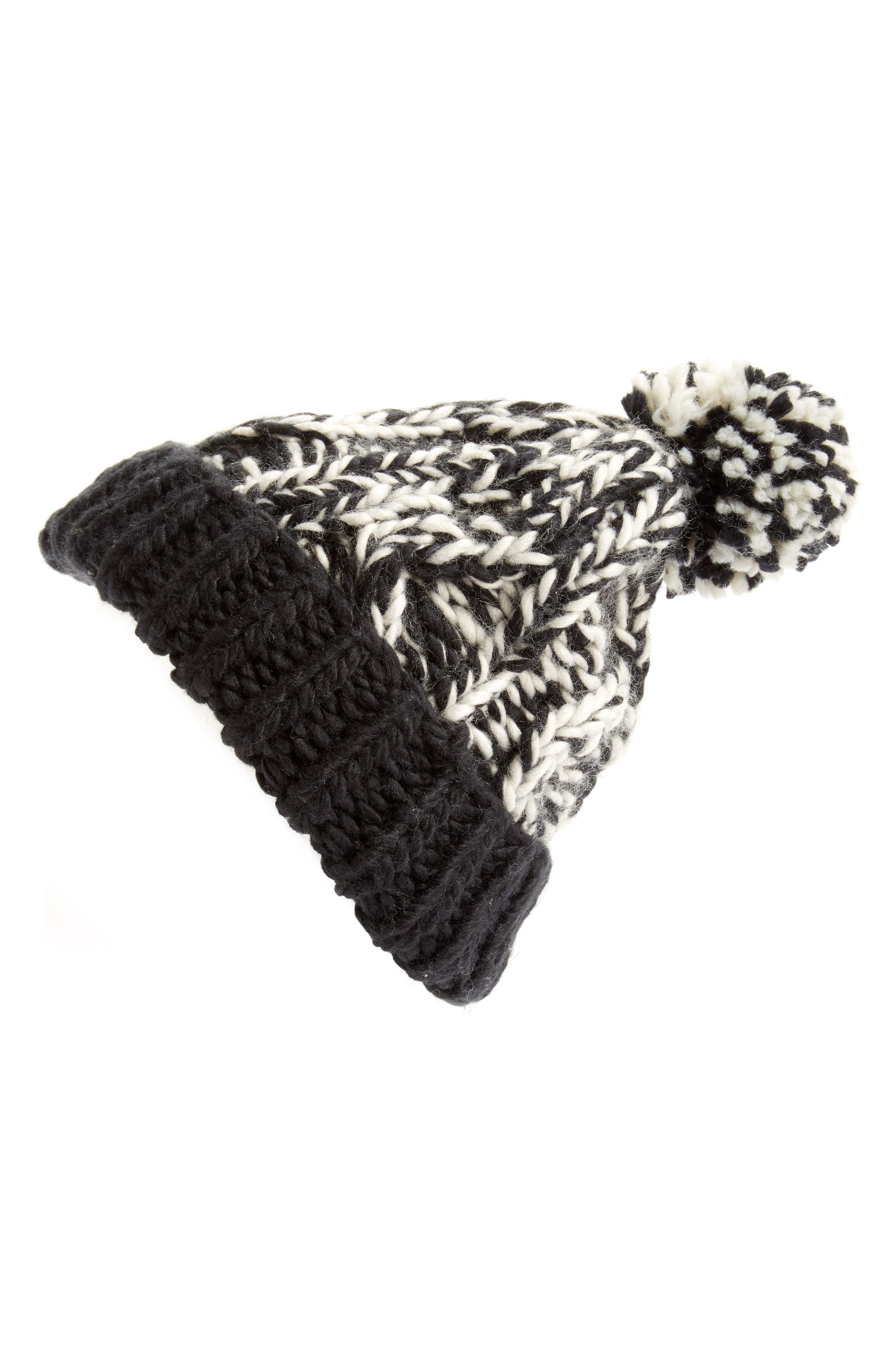 Treasure&Bond Stripe Knit Beanie,                             Main thumbnail 1, color,