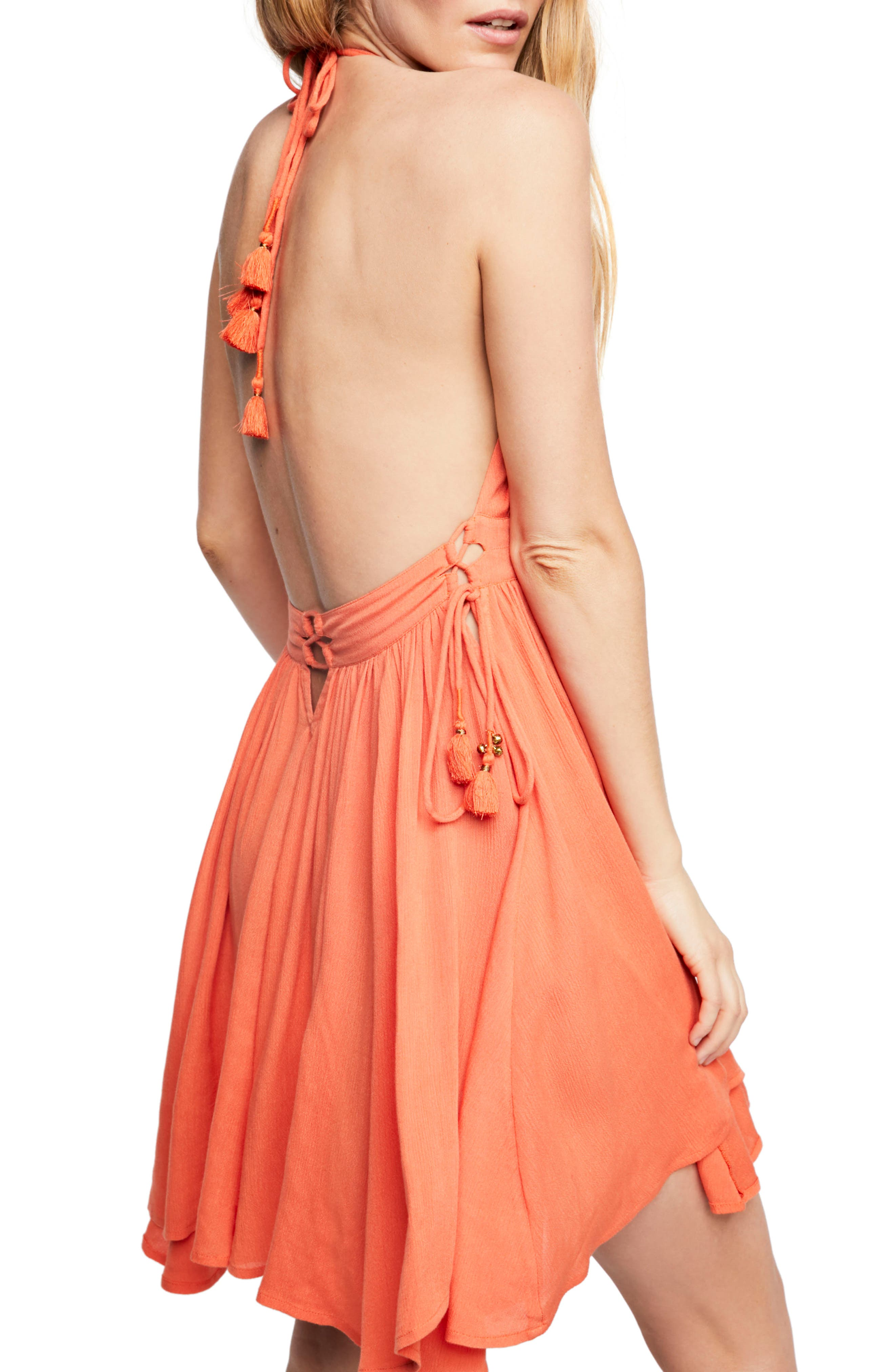 Endless Summer by Free People Electric Feelin' Dress,                             Alternate thumbnail 2, color,                             PAPAYA