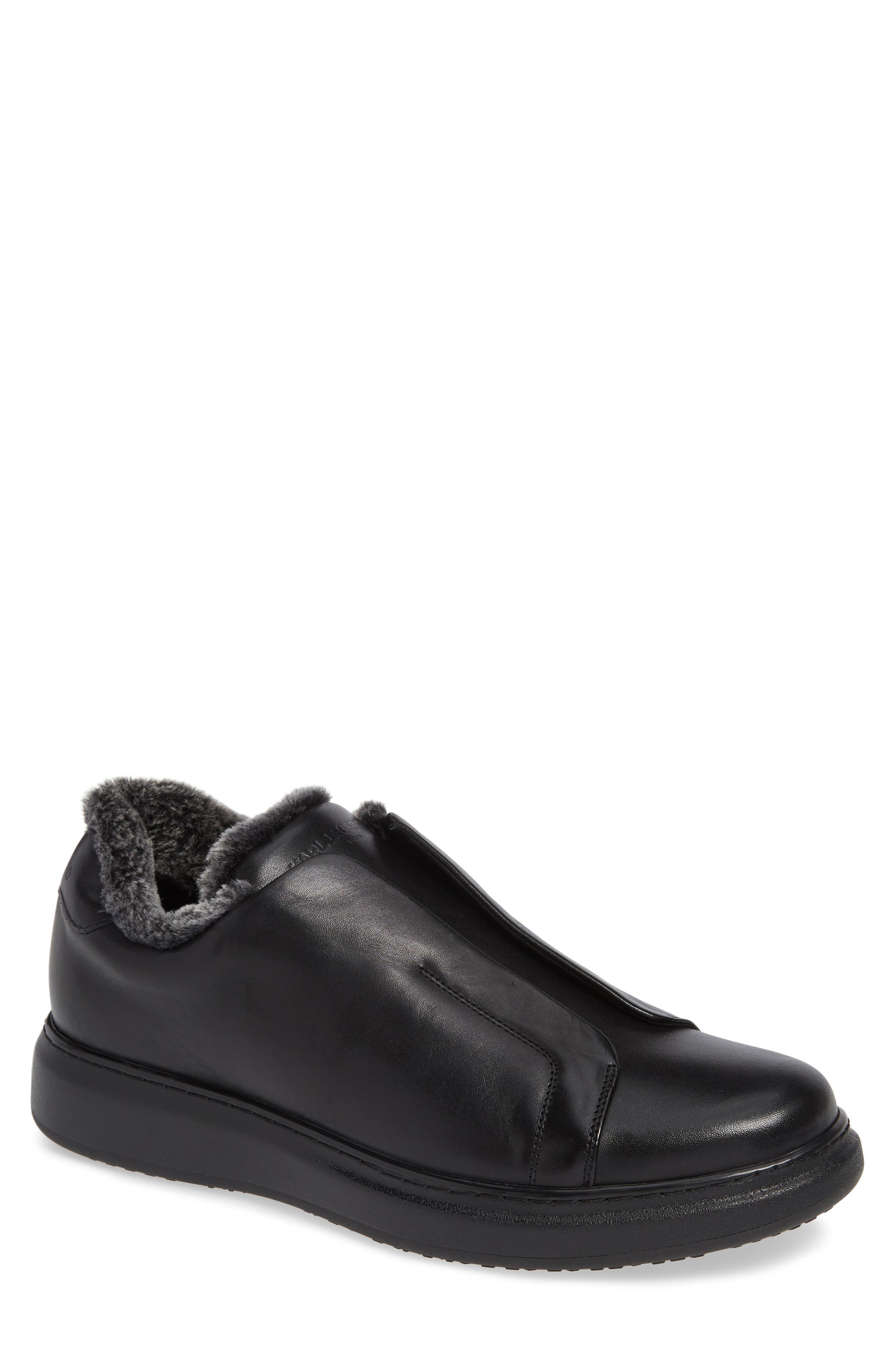 Laceless Sneaker,                         Main,                         color, BLACK