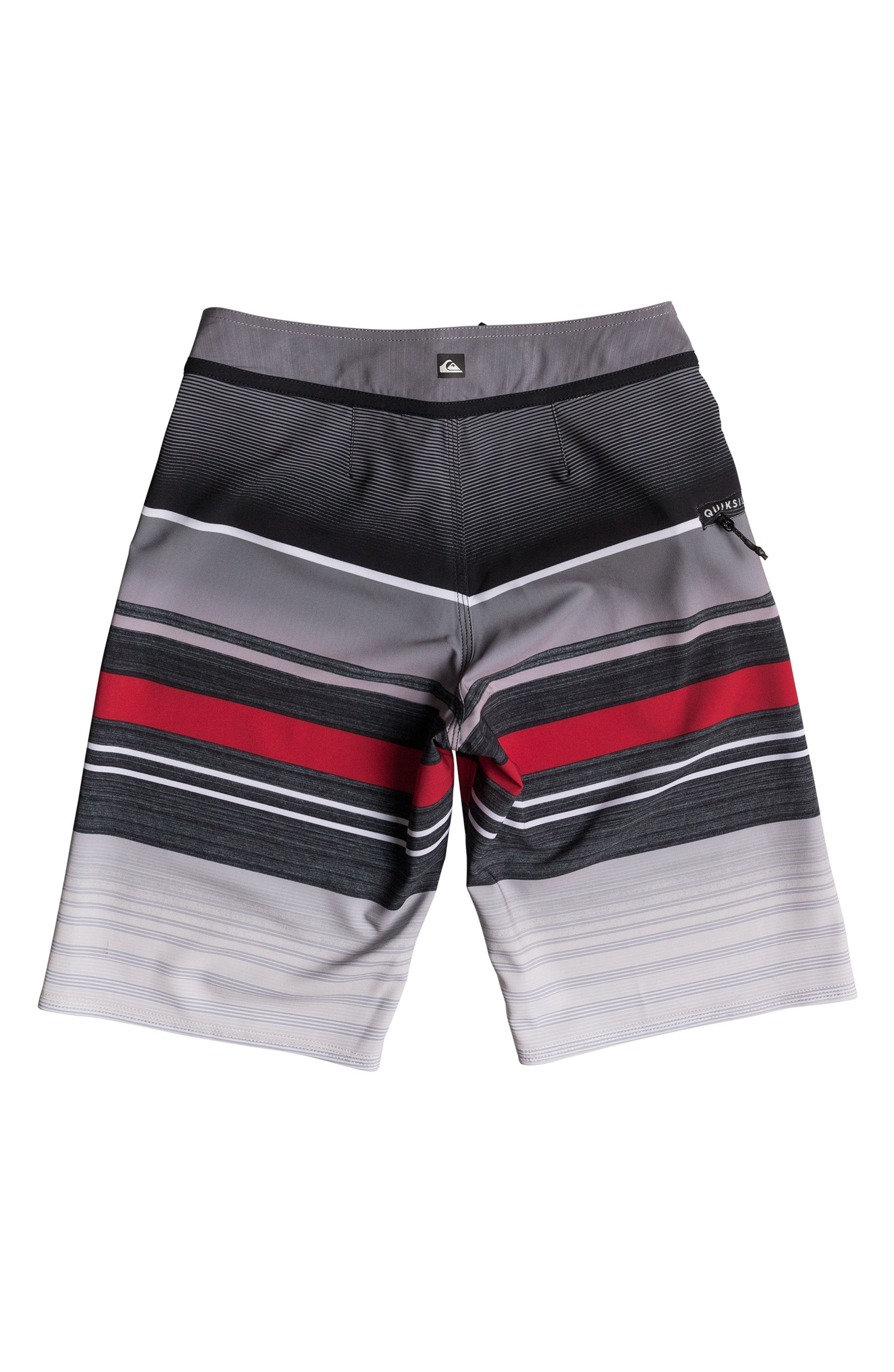 Everyday Stripe Vee Board Shorts,                             Alternate thumbnail 9, color,