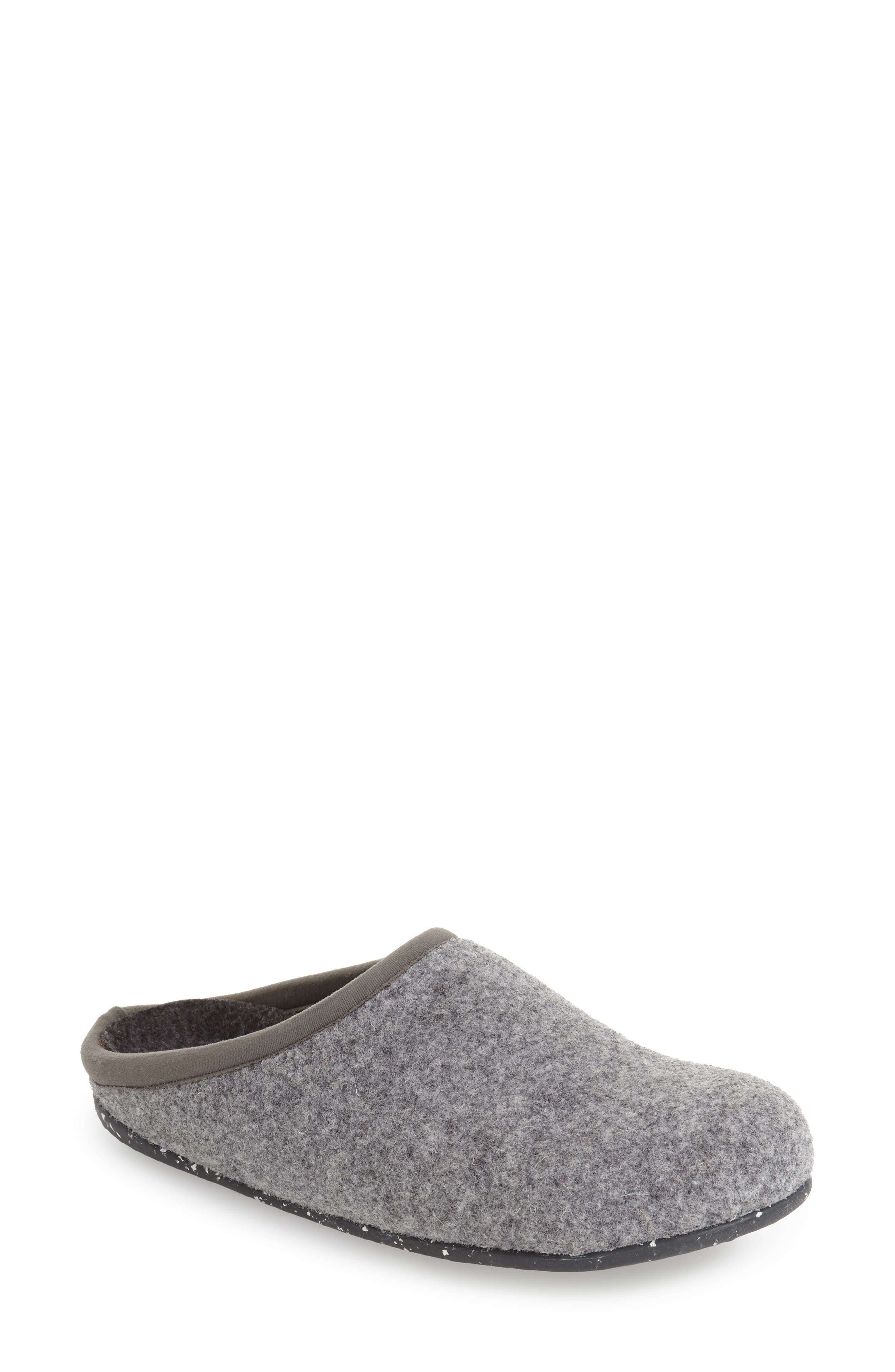 'Wabi' Slipper,                             Alternate thumbnail 4, color,                             DARK GRAY WOOL