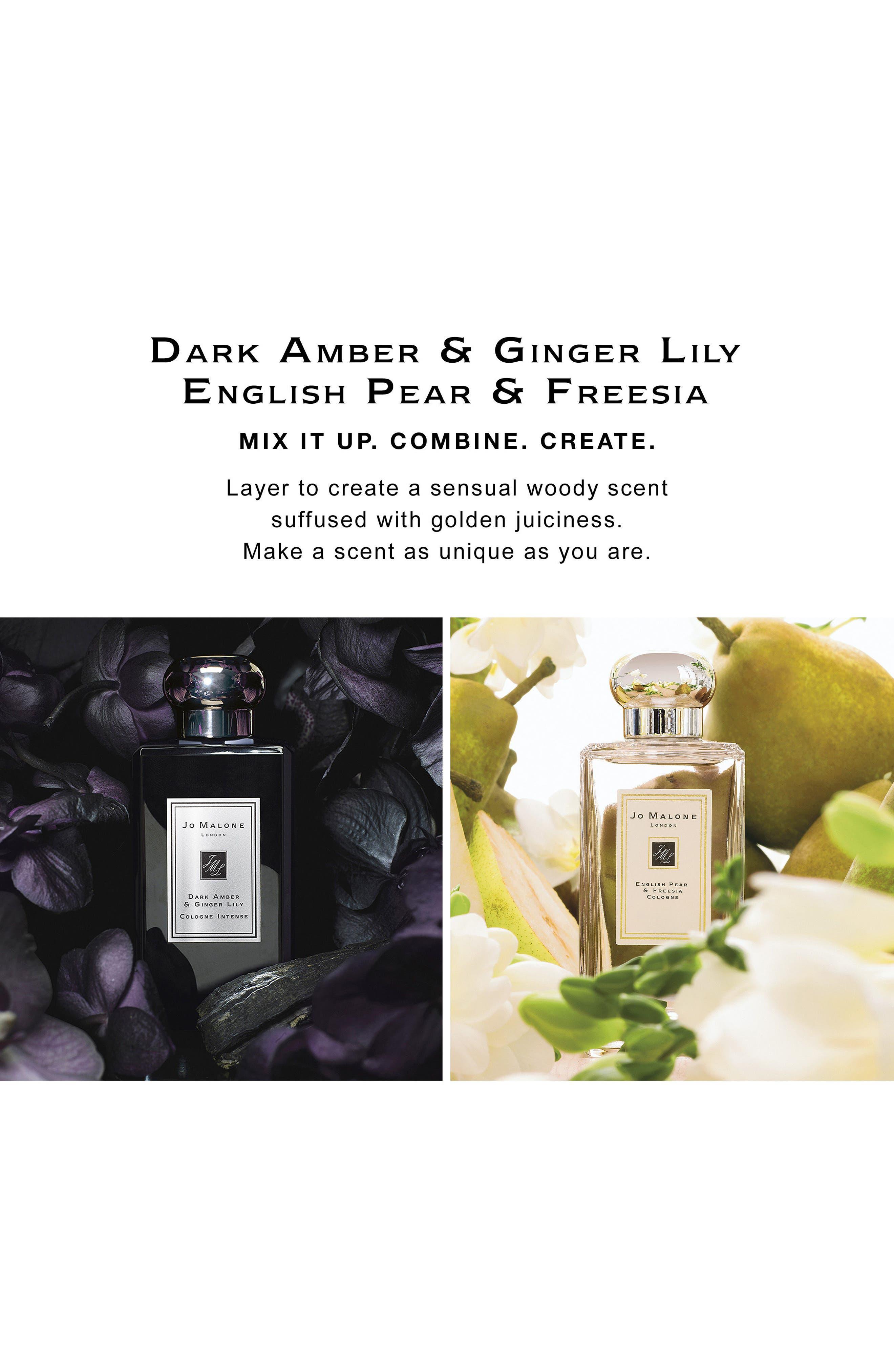 Dark Amber & Ginger Lily Cologne Intense,                             Alternate thumbnail 8, color,                             NO COLOR