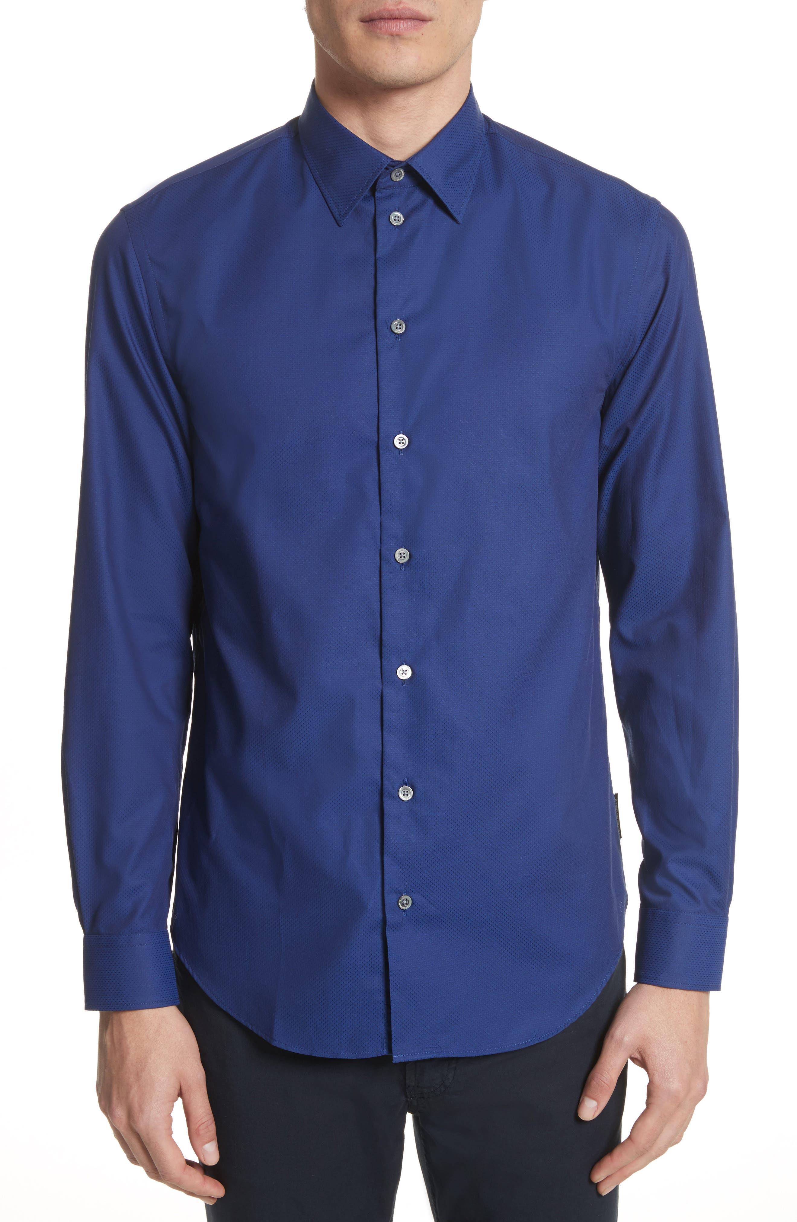 Textured Dot Print Sport Shirt,                         Main,                         color, 405