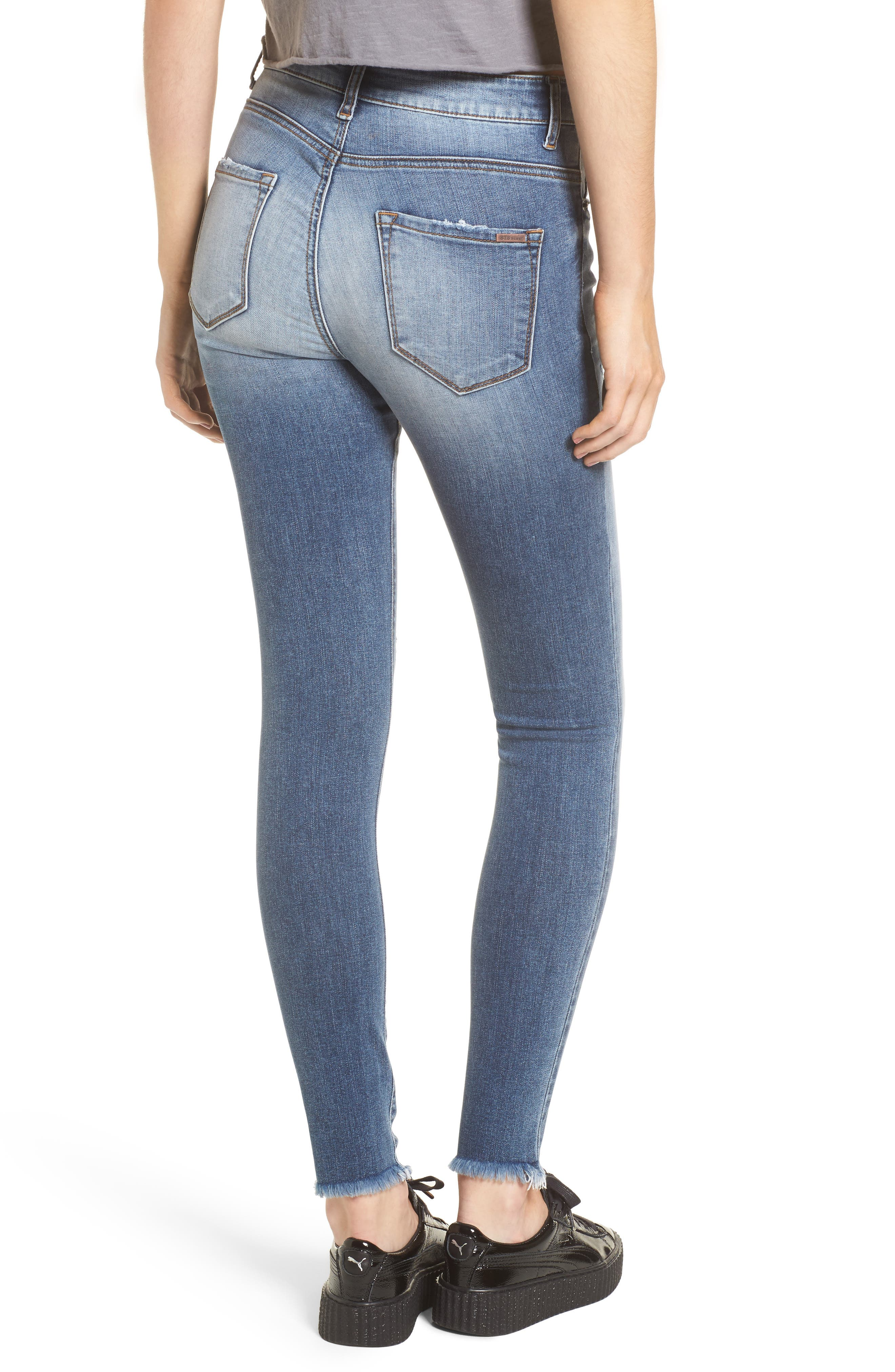 Emma Distressed Skinny Jeans,                             Alternate thumbnail 2, color,                             400