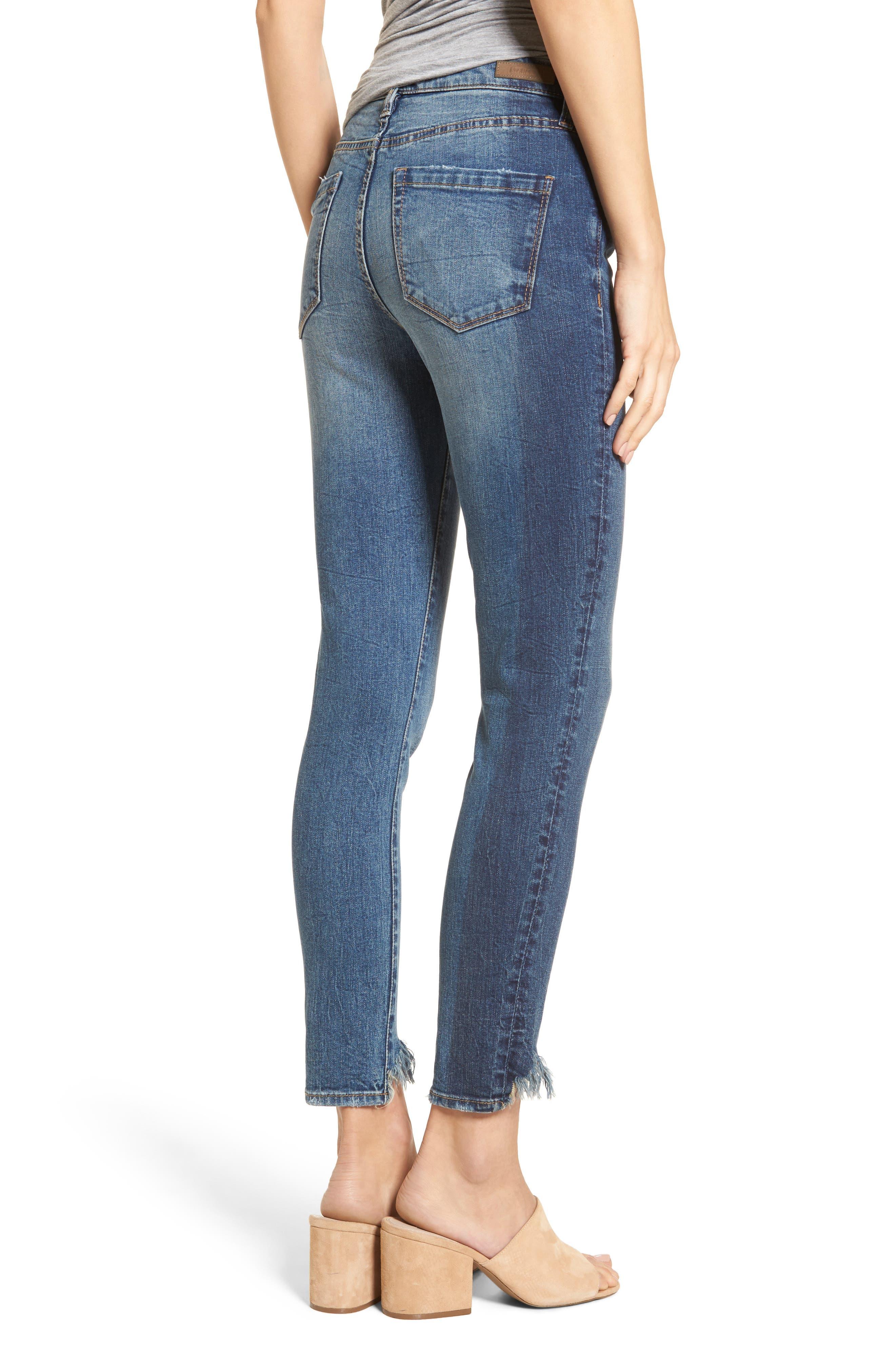 Cry Baby Raw Hem High Waist Skinny Jeans,                             Alternate thumbnail 2, color,