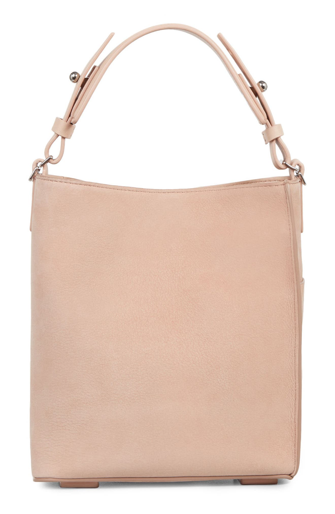 Mini Mast Leather North/South Tote,                             Alternate thumbnail 3, color,                             NUDE PINK