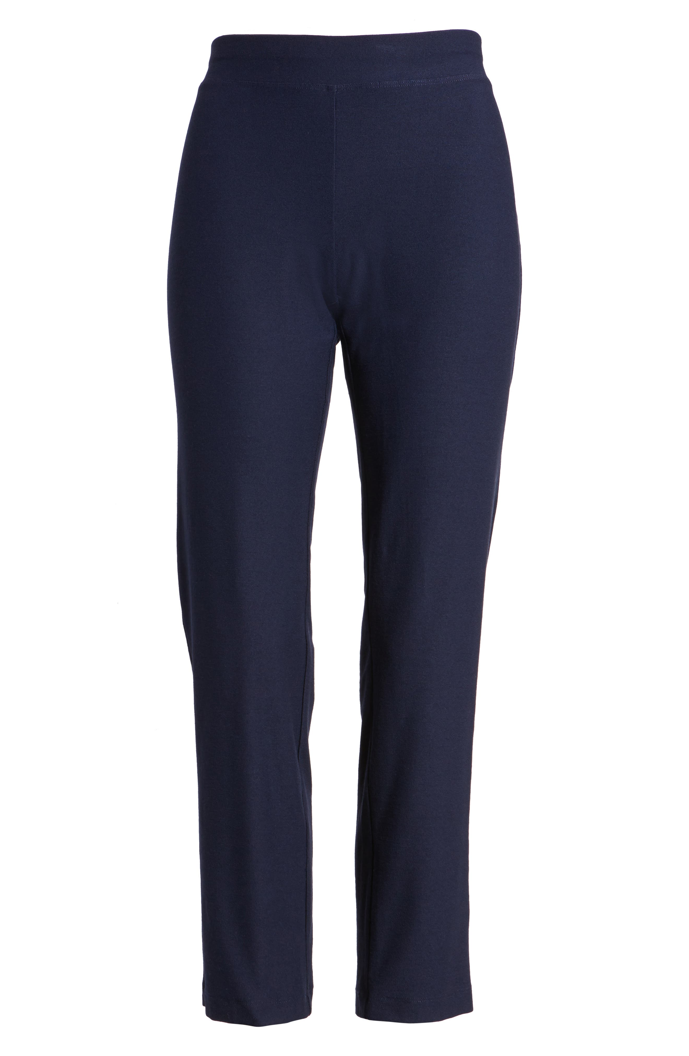 Stretch Crepe Slim Ankle Pants,                             Alternate thumbnail 7, color,                             MIDNIGHT
