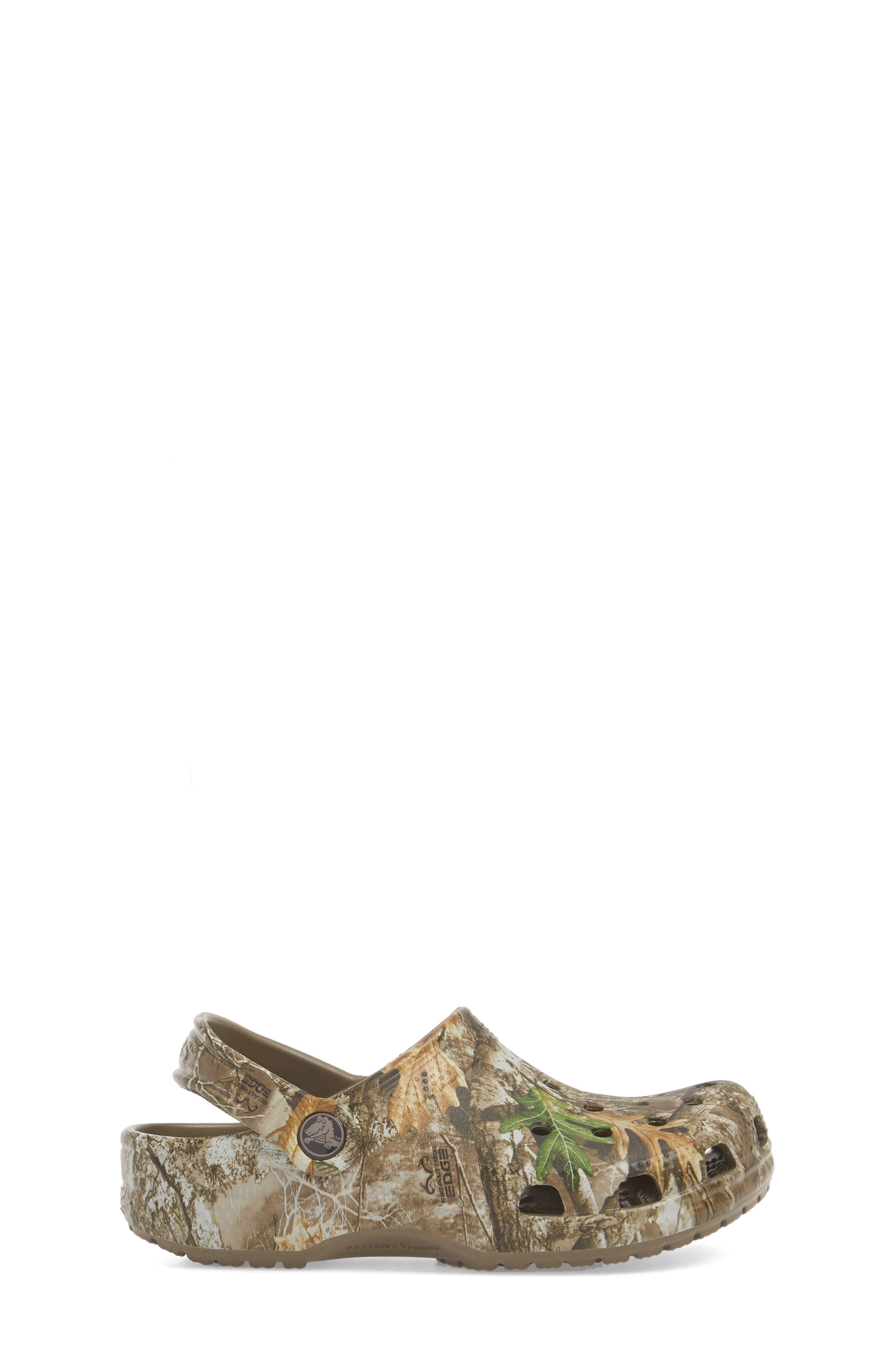 Realtree<sup>®</sup> Edge Print Classic Clog,                             Alternate thumbnail 3, color,                             WALNUT