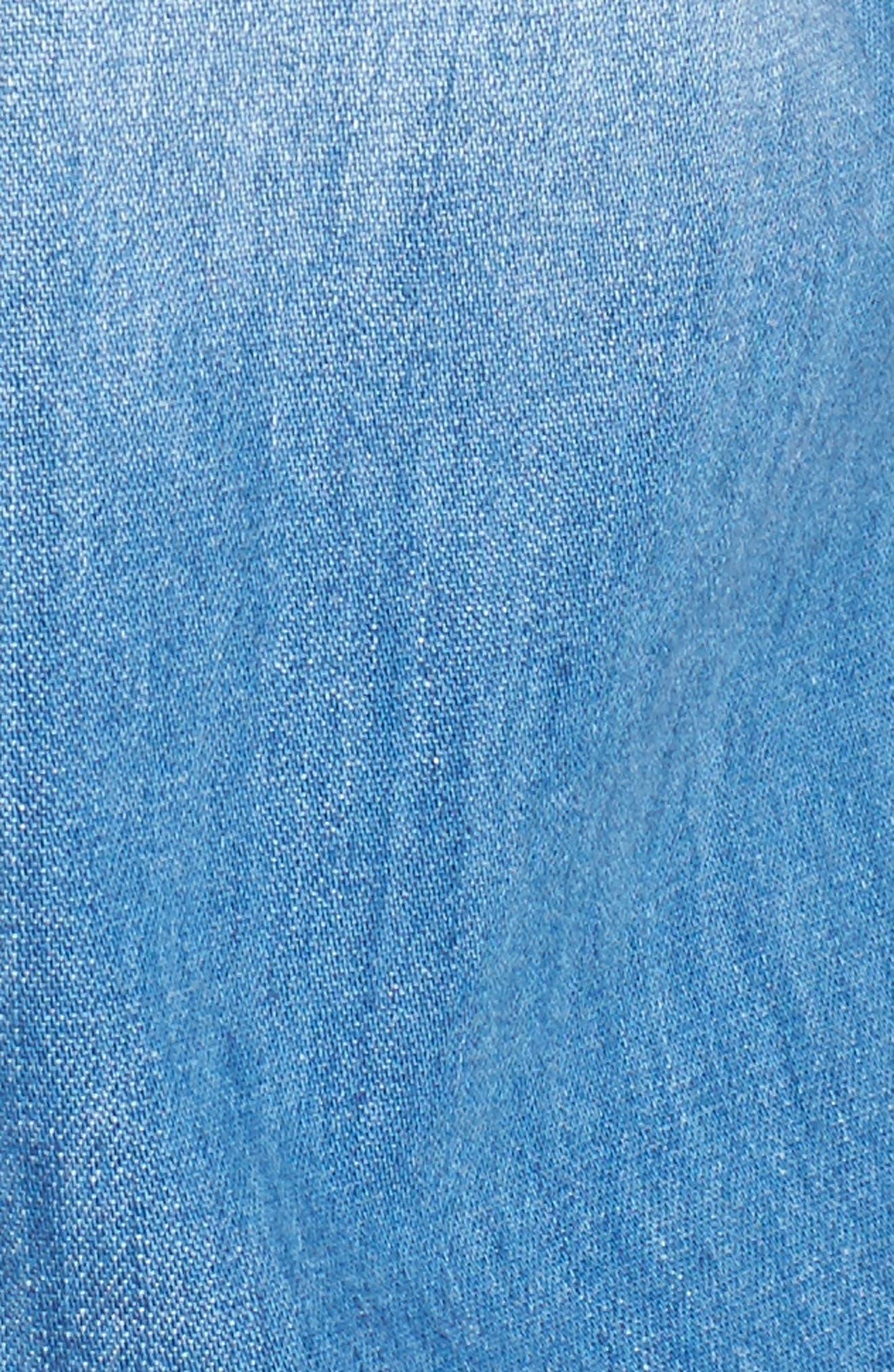 Easton Denim Shirt,                             Alternate thumbnail 5, color,                             TURBULENCE
