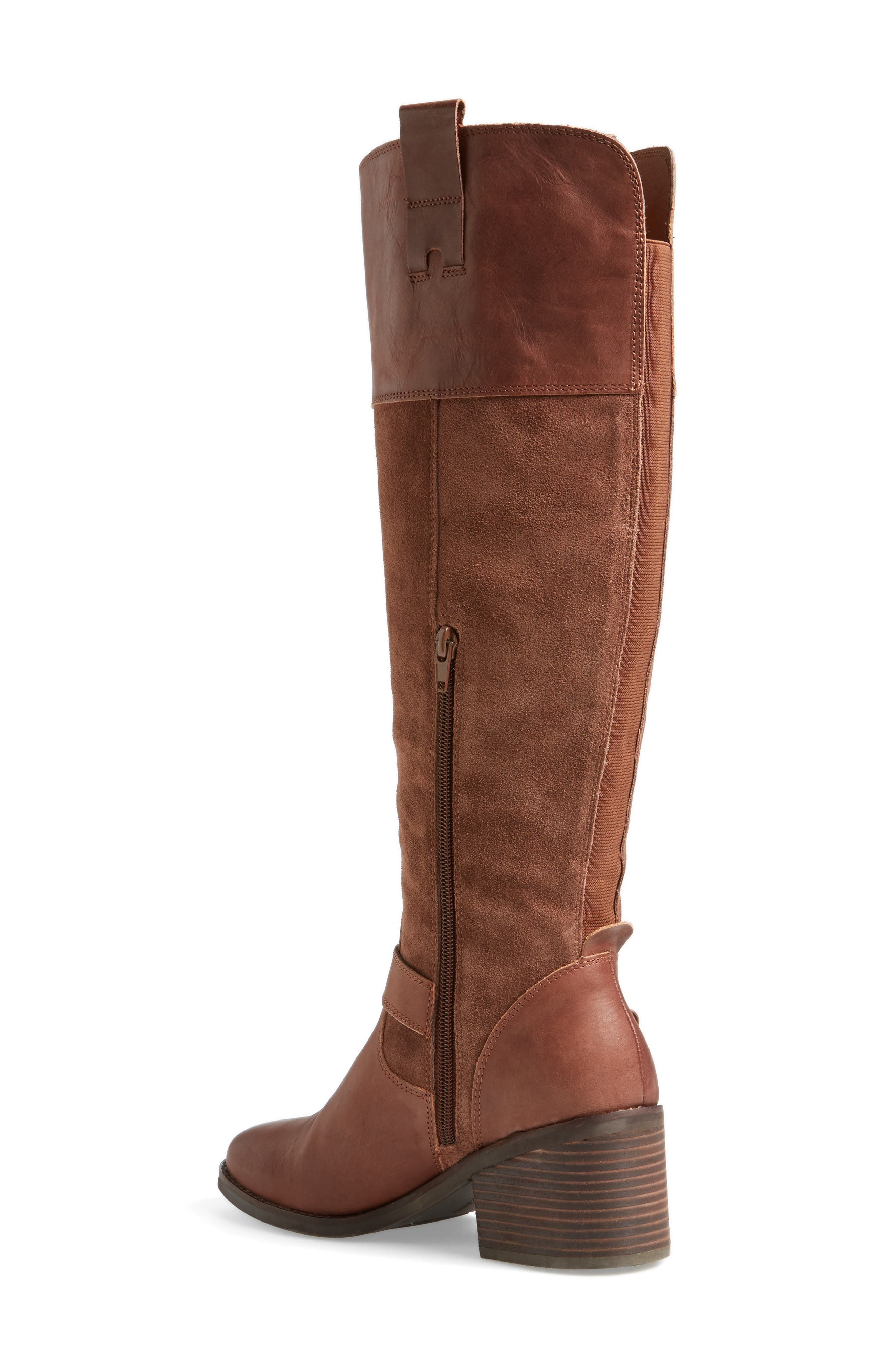 Kailan Ankle Strap Tall Boot,                             Alternate thumbnail 5, color,