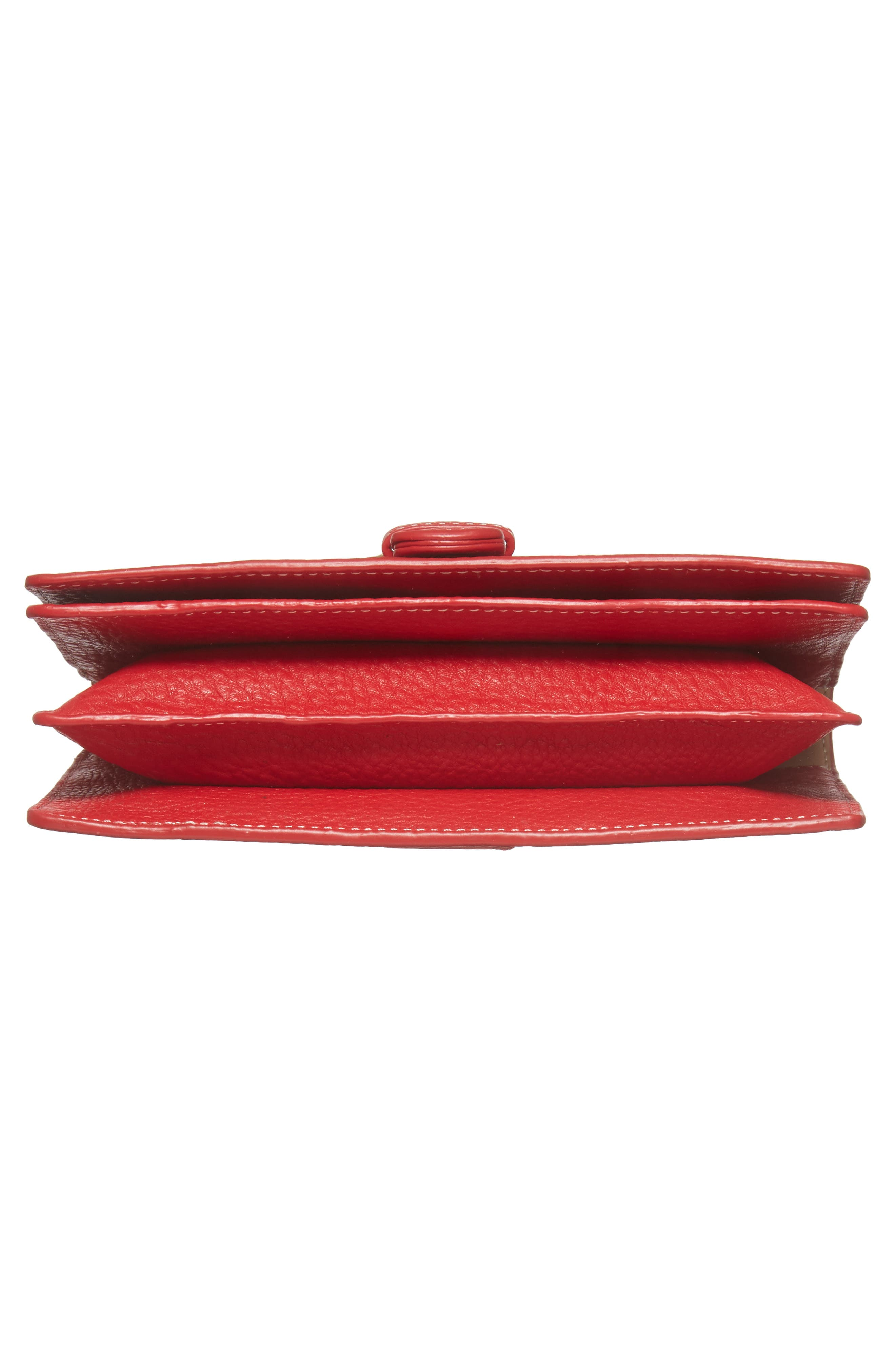 Calfskin Leather Crossbody Wallet,                             Alternate thumbnail 24, color,