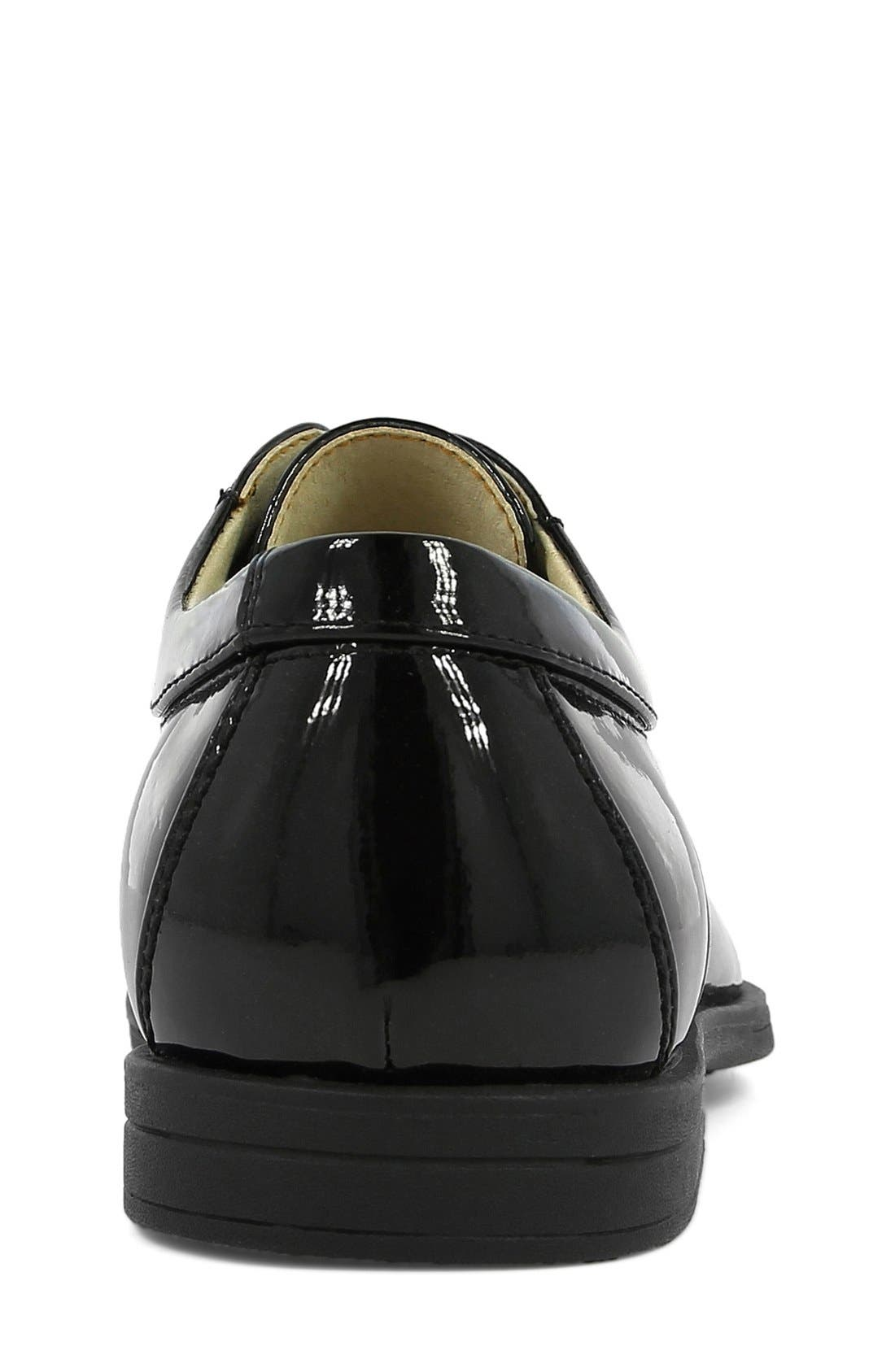 'Reveal' Oxford,                             Alternate thumbnail 4, color,                             BLACK PATENT LEATHER