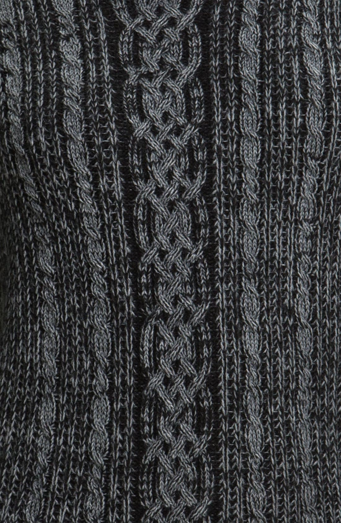 Cable Knit Sweater,                             Alternate thumbnail 2, color,                             001