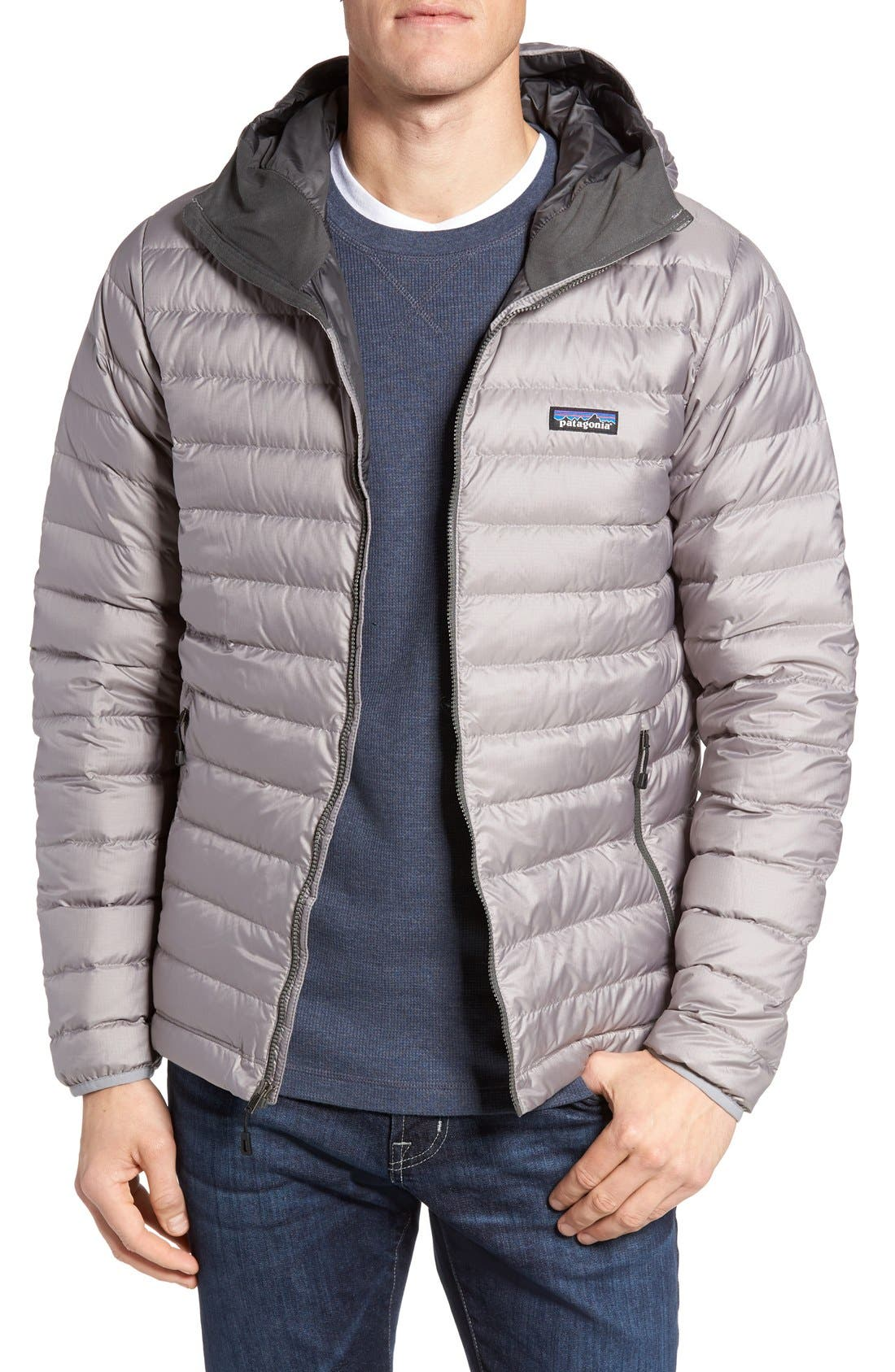 Packable Windproof & Water Resistant Goose Down Sweater Hooded Jacket,                             Main thumbnail 7, color,