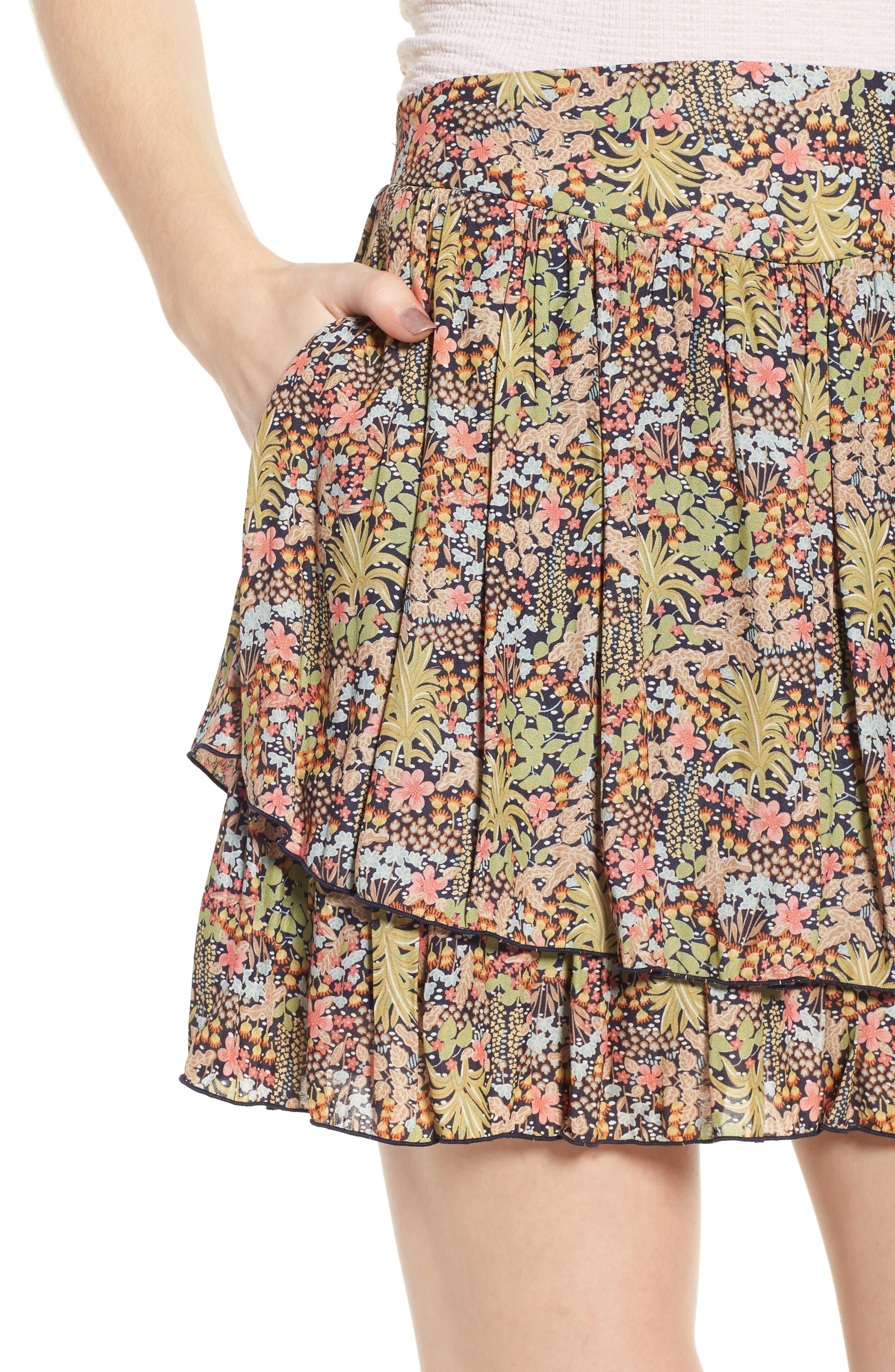 Double Layer Miniskirt,                             Alternate thumbnail 4, color,                             301