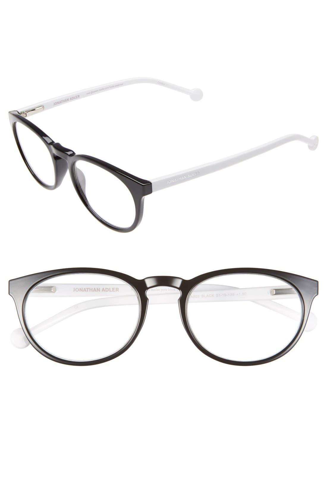 '803' 51mm Reading Glasses,                             Main thumbnail 1, color,                             001