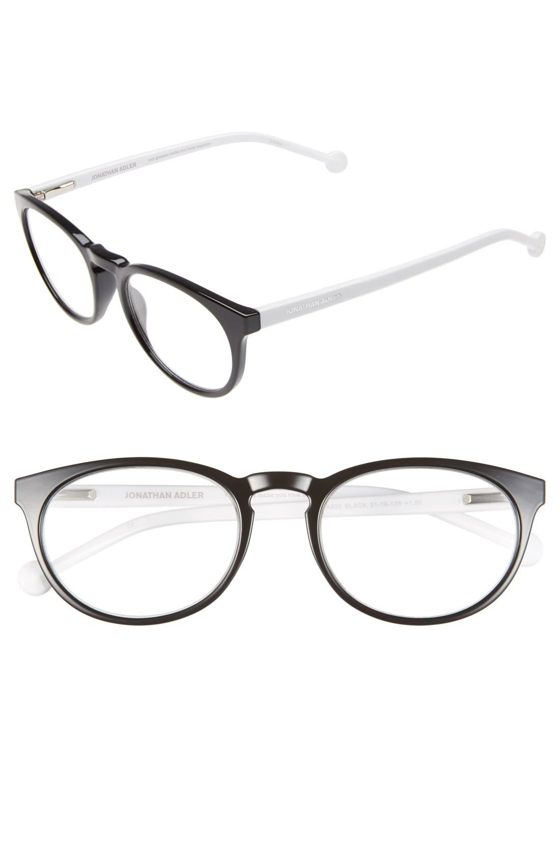 '803' 51mm Reading Glasses,                         Main,                         color, 001