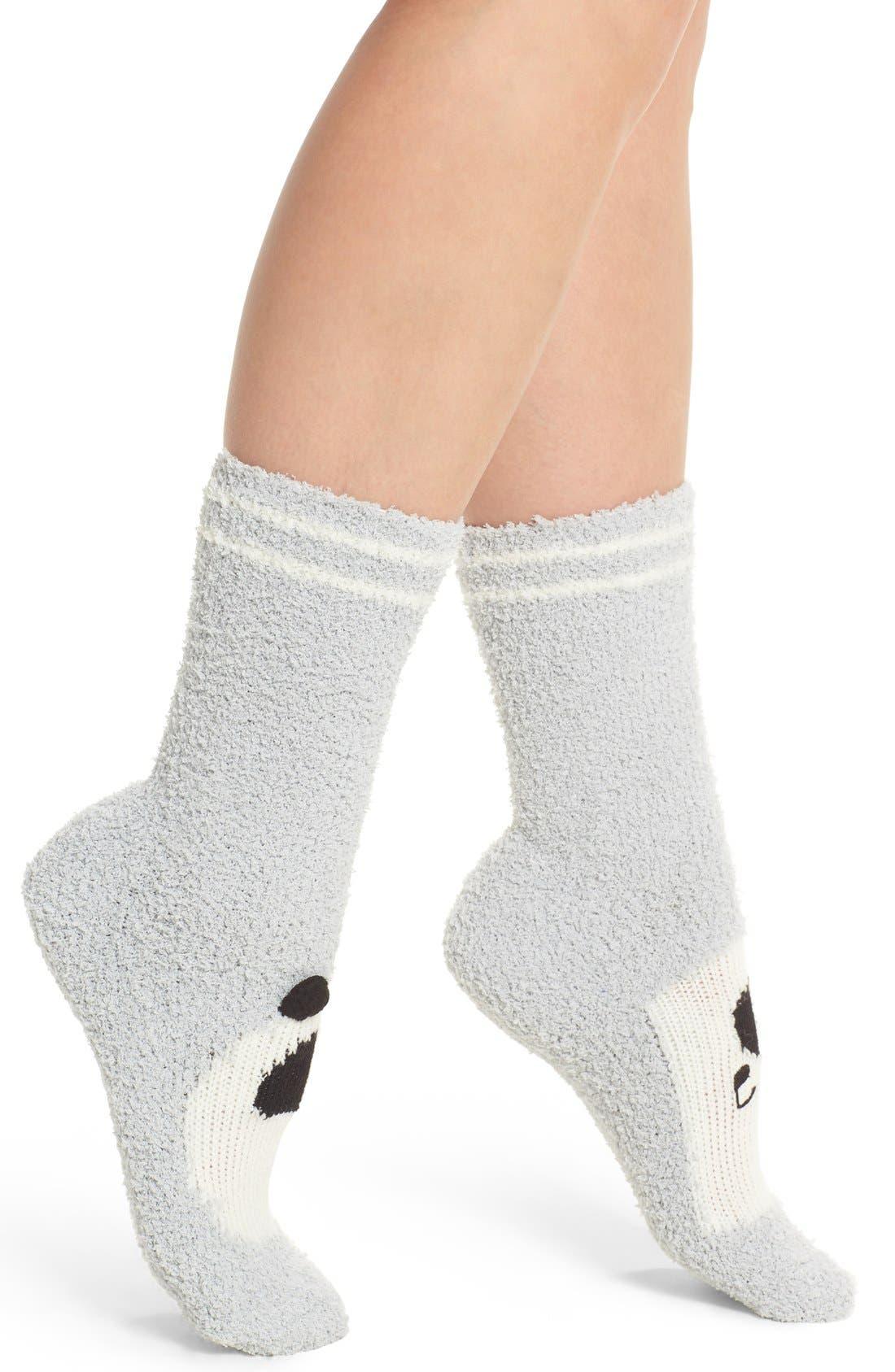 Panda Plush Socks,                             Alternate thumbnail 2, color,                             028