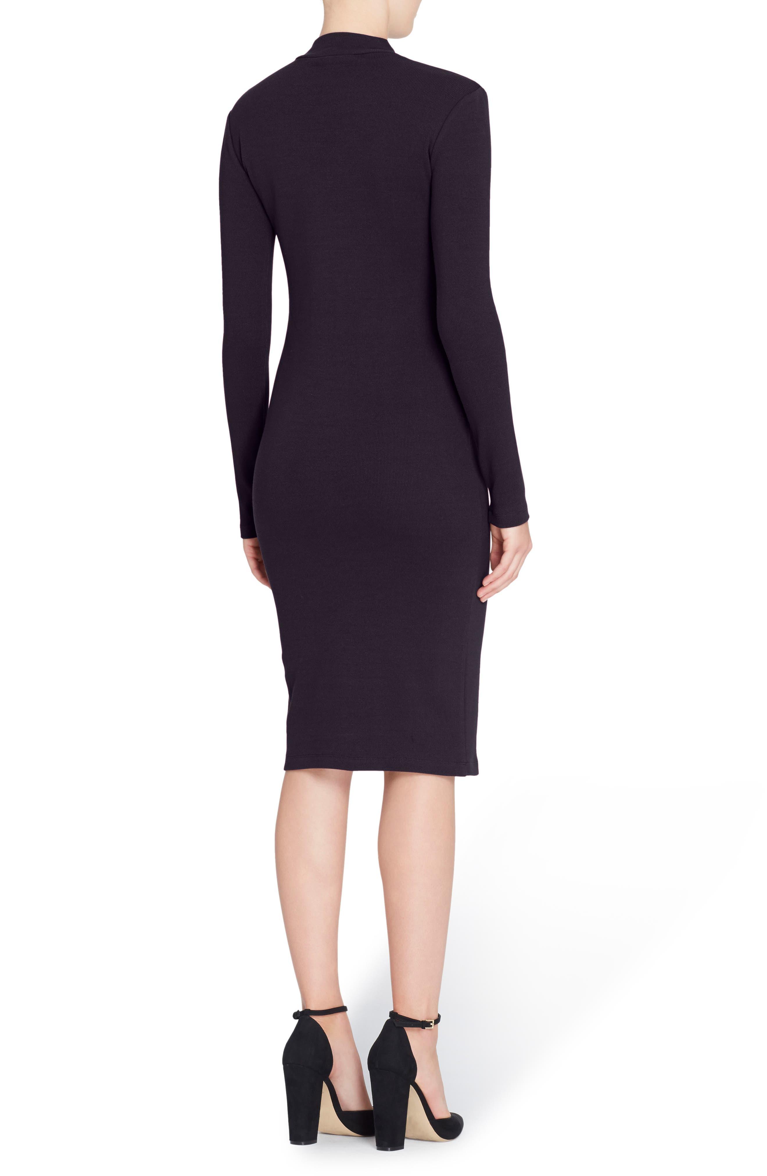 'Kristiana' Knit Midi Dress,                             Alternate thumbnail 2, color,                             010