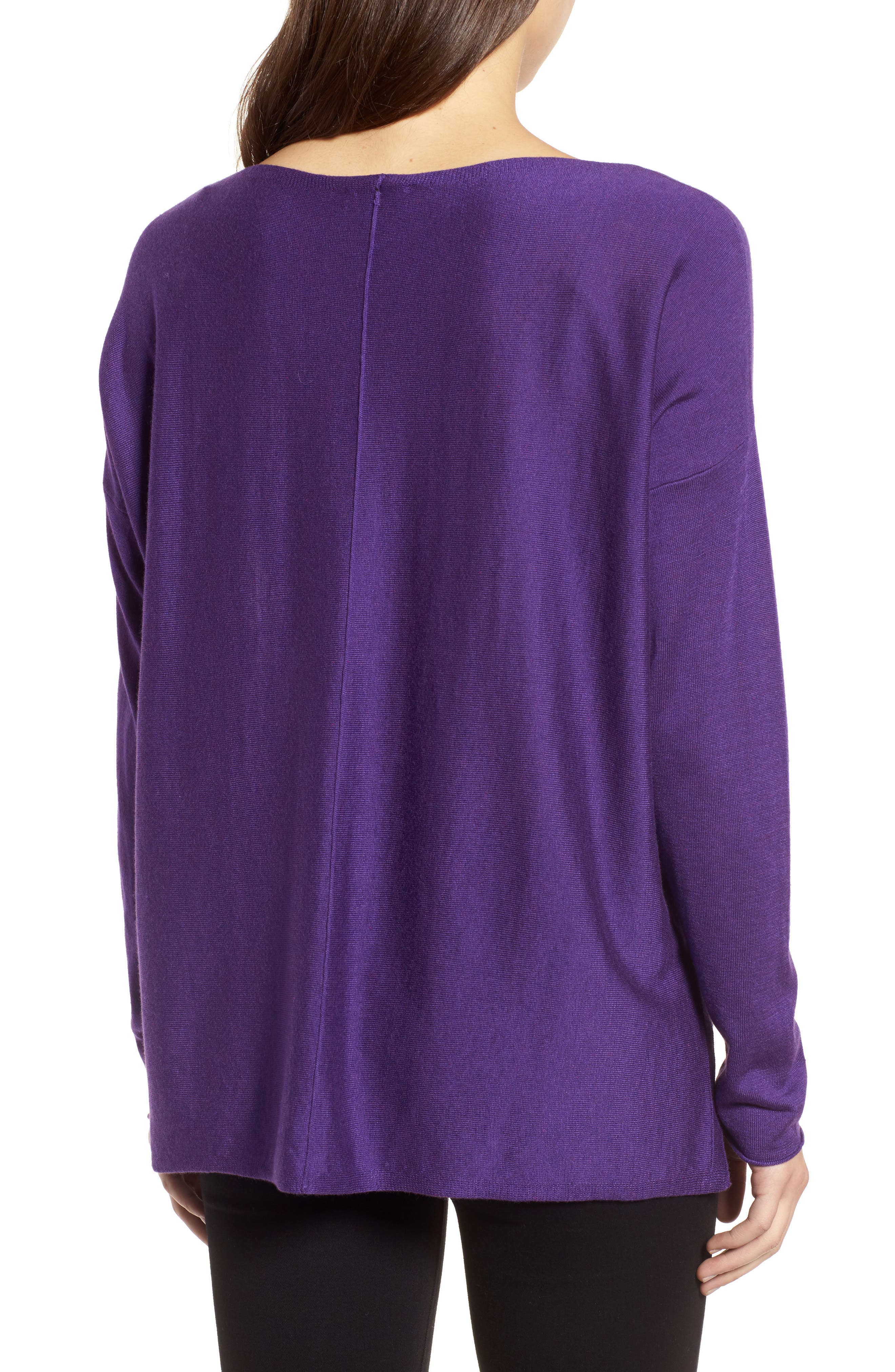 Tencel<sup>®</sup> Lyocell Blend High/Low Sweater,                             Alternate thumbnail 11, color,