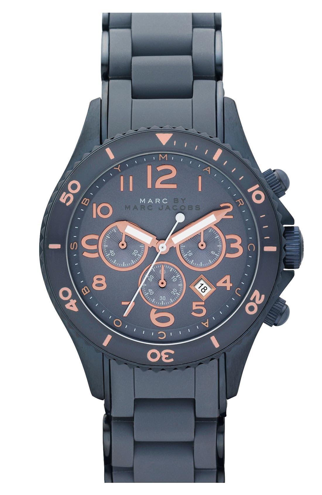 'Rock' Chronograph Silicone Bracelet Watch, 40mm,                             Main thumbnail 11, color,