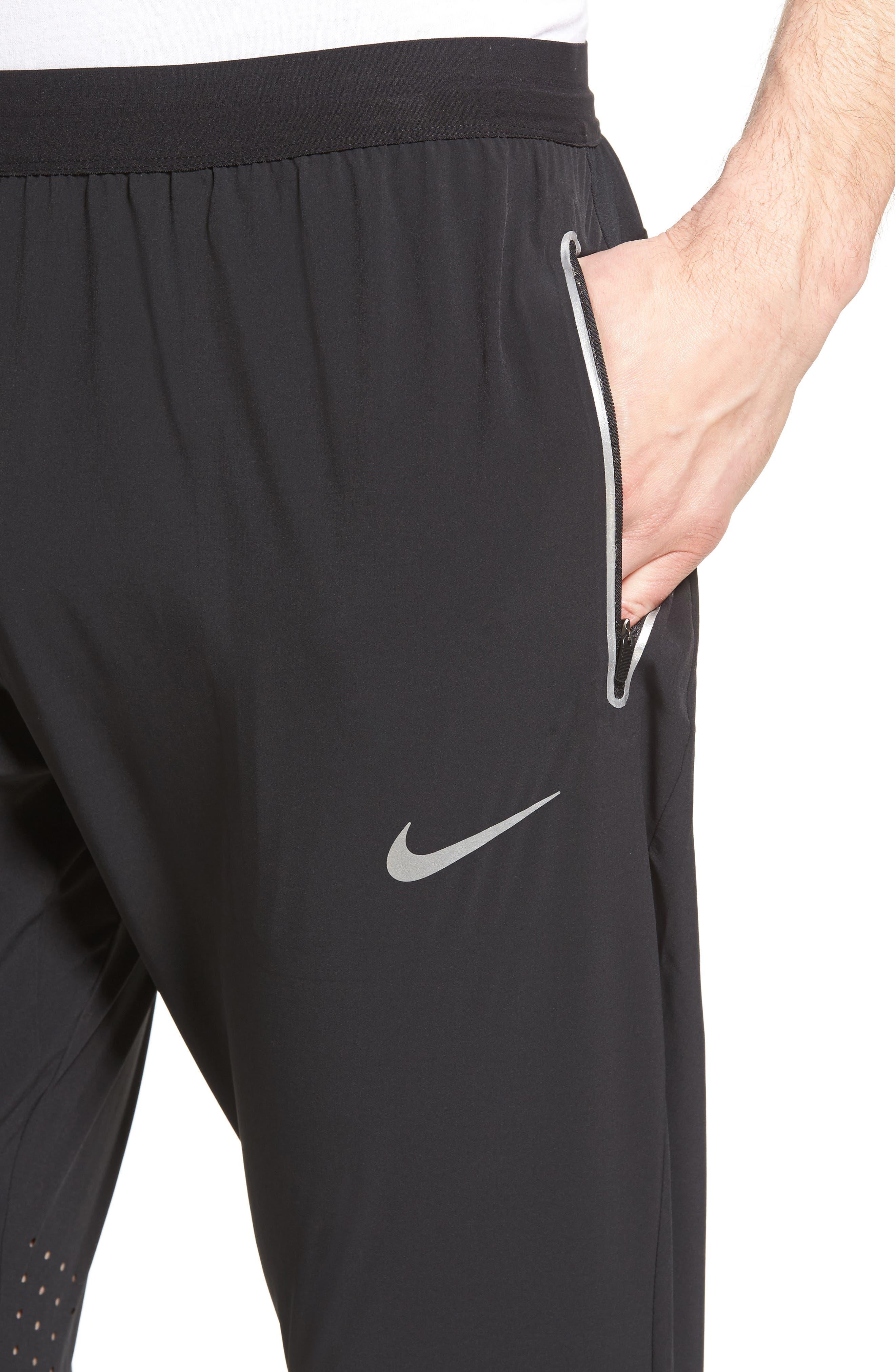 Flex Running Pants,                             Alternate thumbnail 4, color,                             BLACK/ PURE PLATINUM