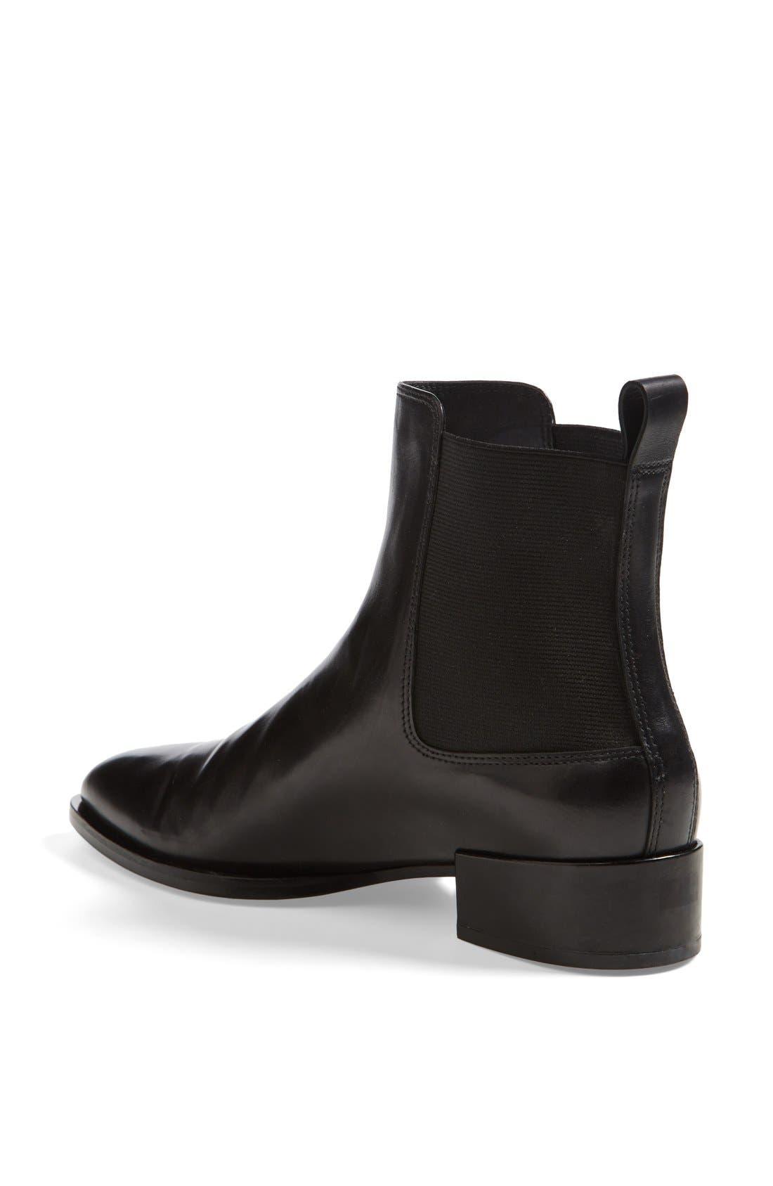 'Yarmon' Almond Toe Calfskin Leather Chelsea Boot,                             Alternate thumbnail 3, color,                             002