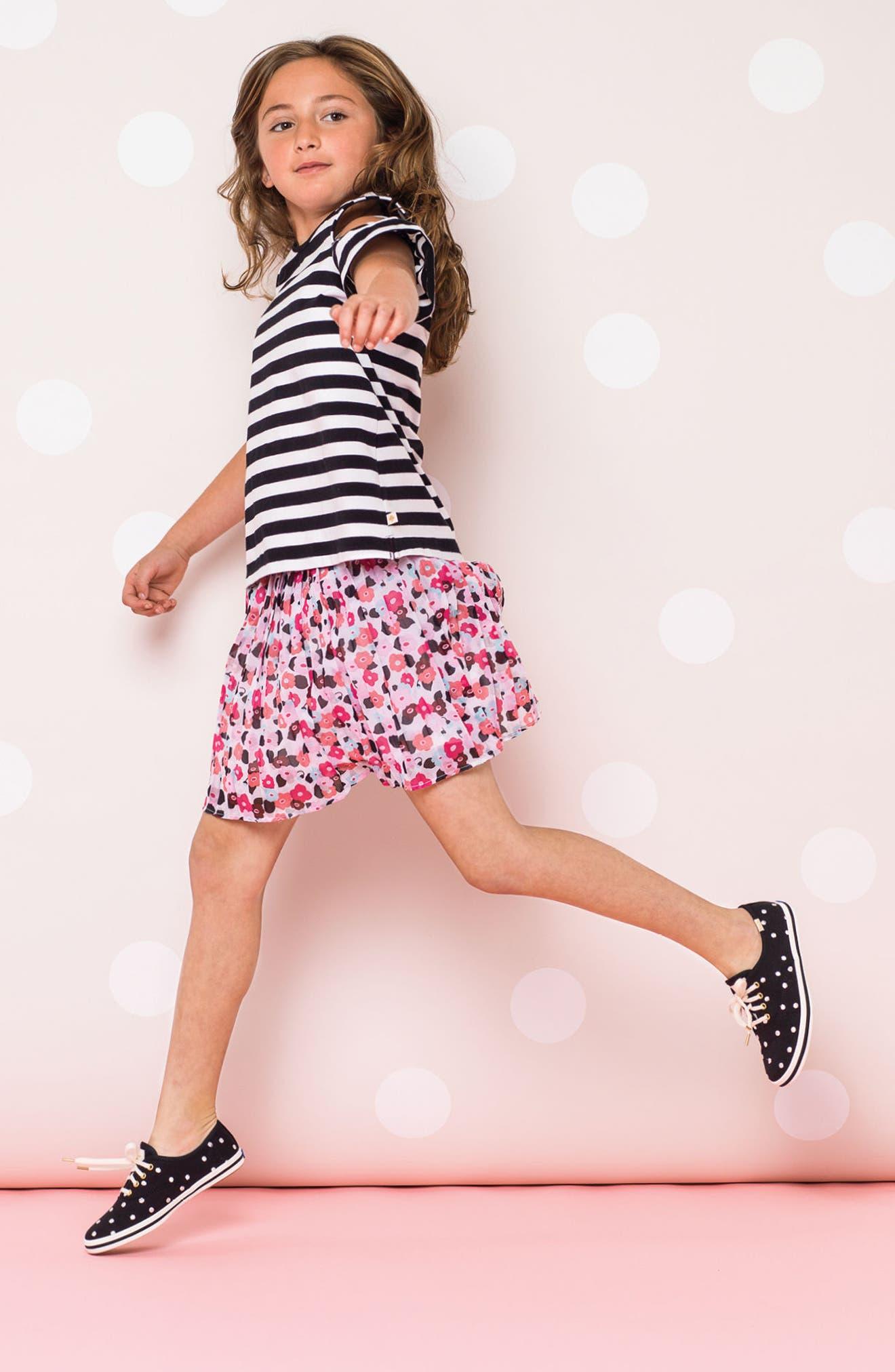 x kate spade new york champion polka dot lace-up shoe,                             Alternate thumbnail 7, color,                             BLACK DANCING DOT
