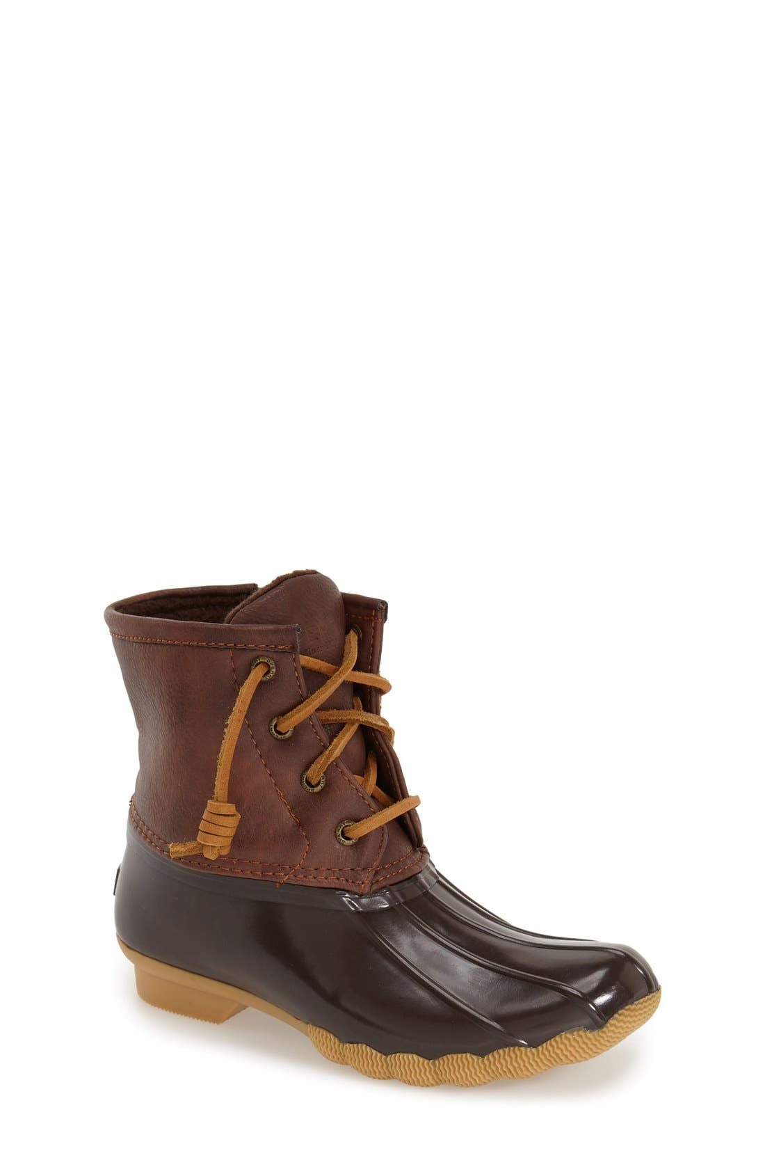 Saltwater Duck Boot,                             Main thumbnail 1, color,                             BROWN