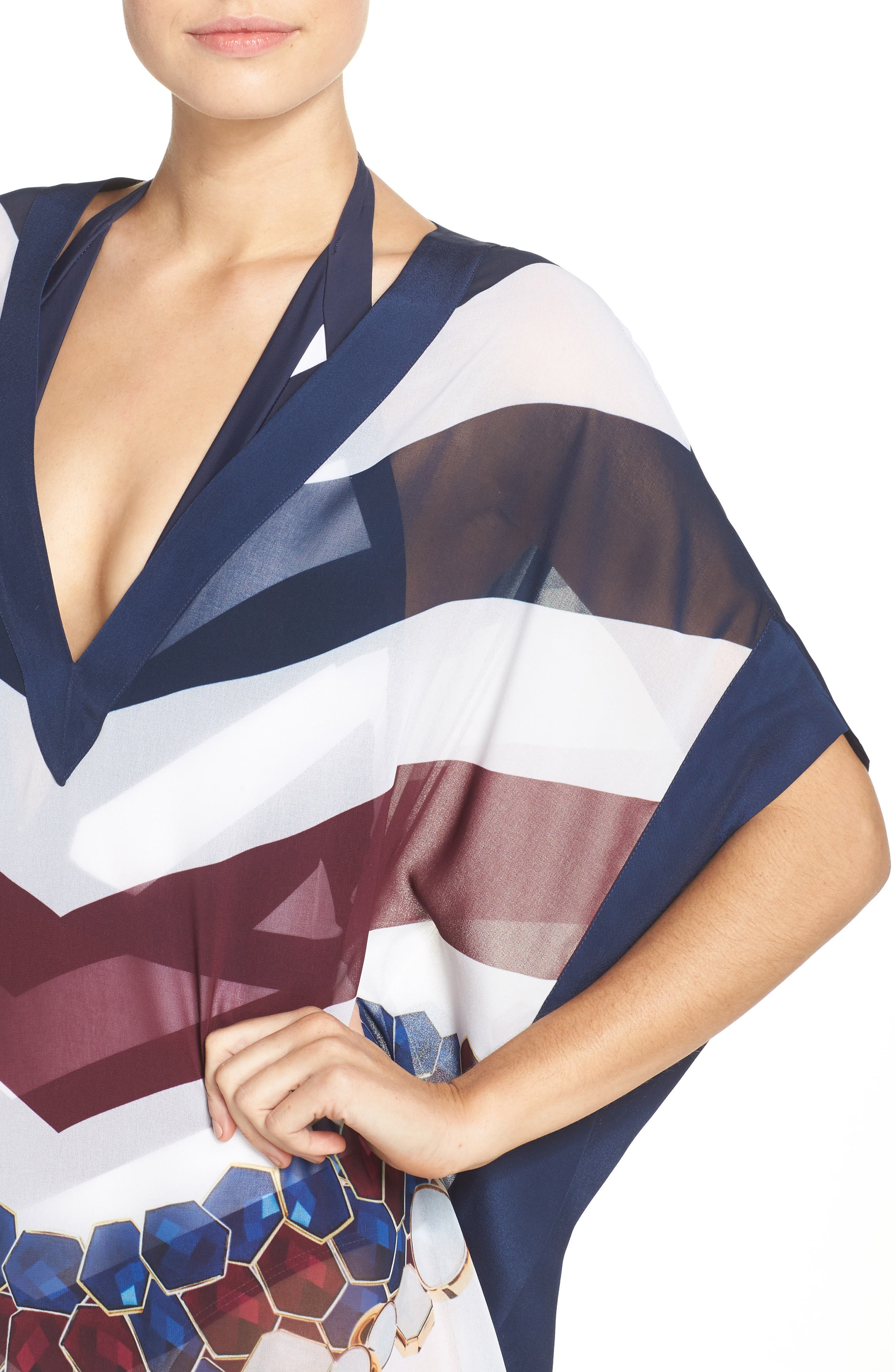 Rowing Stripe Cover-Up Tunic,                             Alternate thumbnail 4, color,