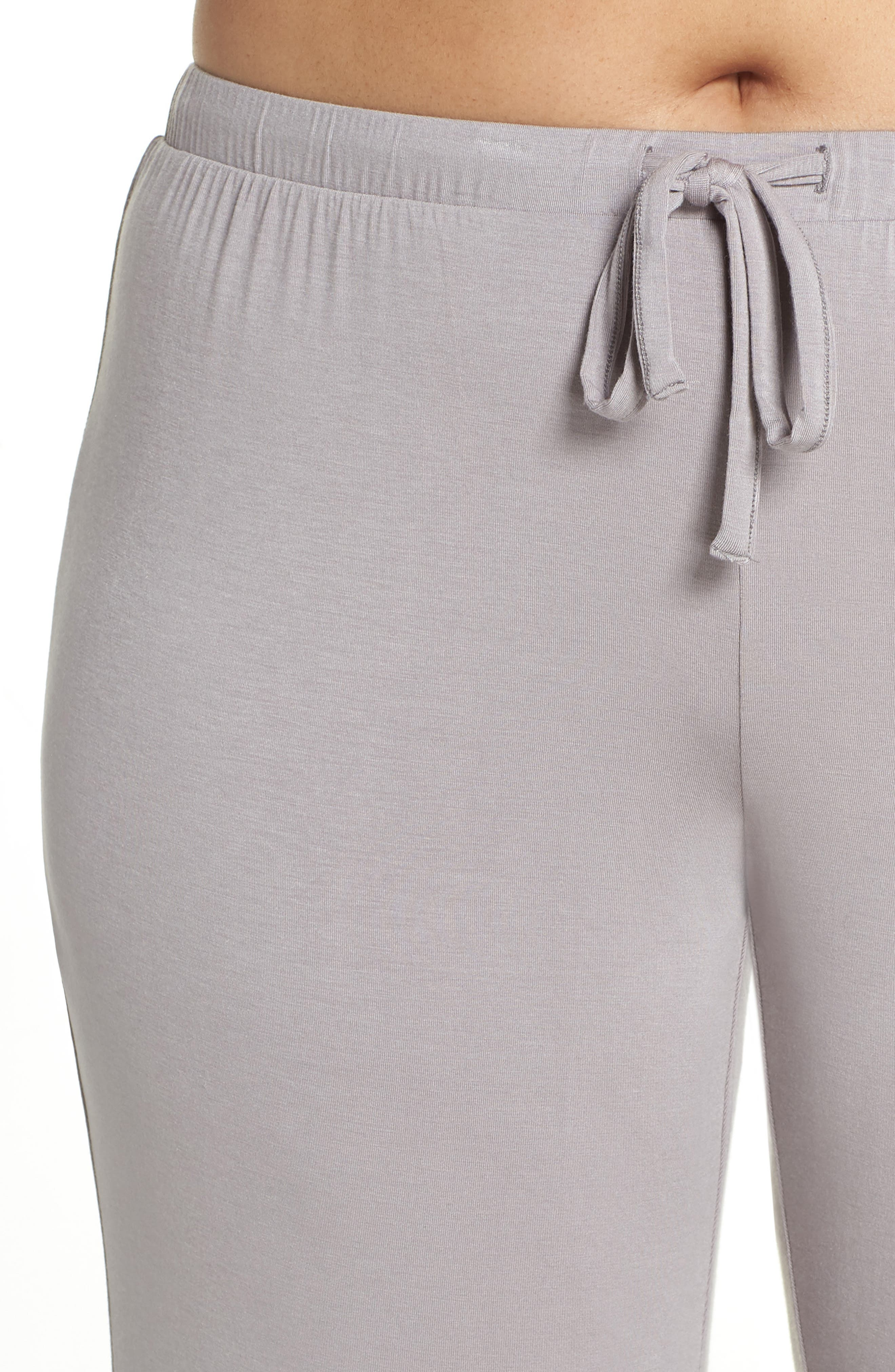 Breathe Lounge Pants,                             Alternate thumbnail 4, color,                             GREY GULL