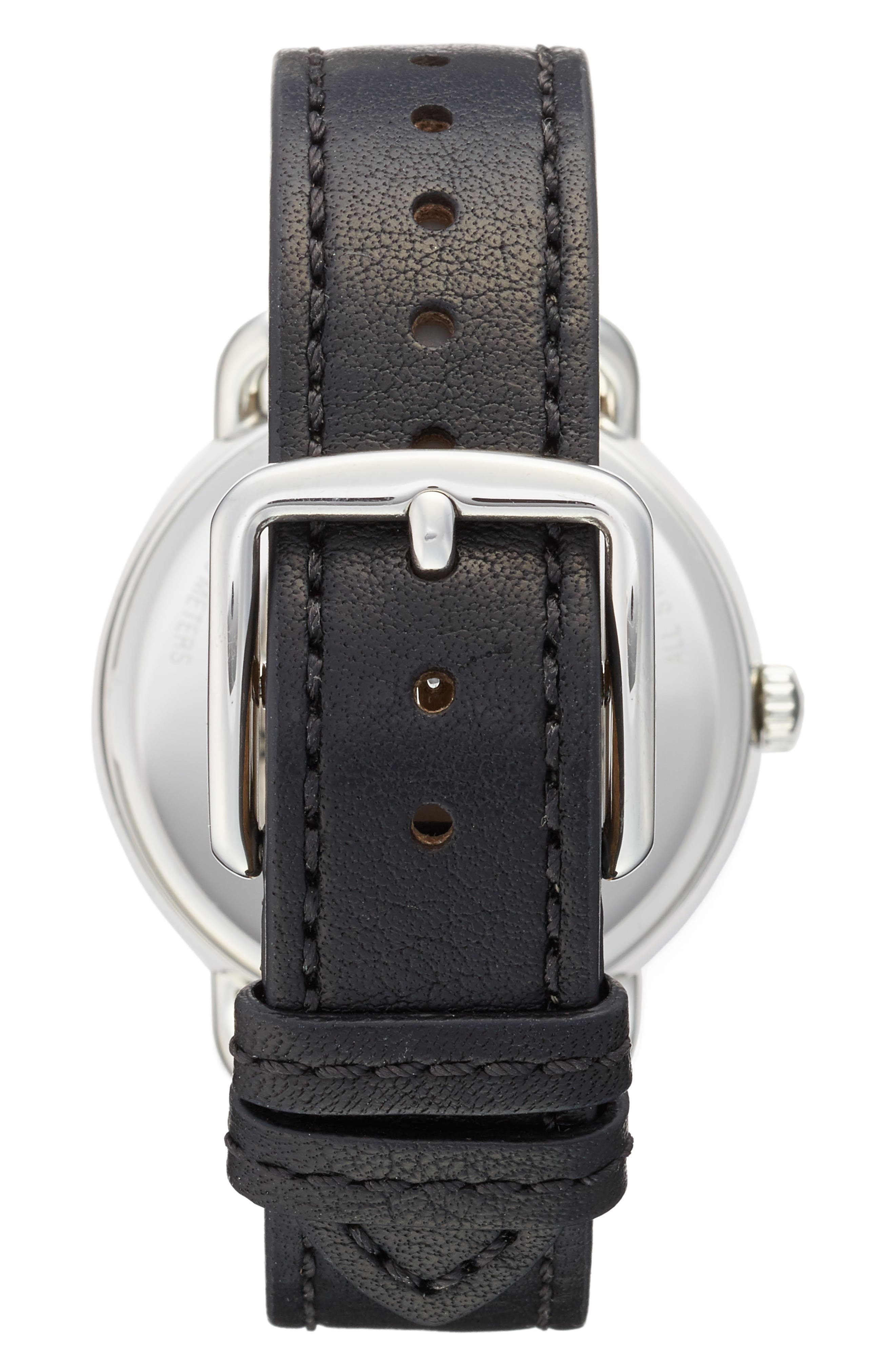 COACH,                             Delancey Leather Strap Watch, 36mm,                             Alternate thumbnail 2, color,                             001