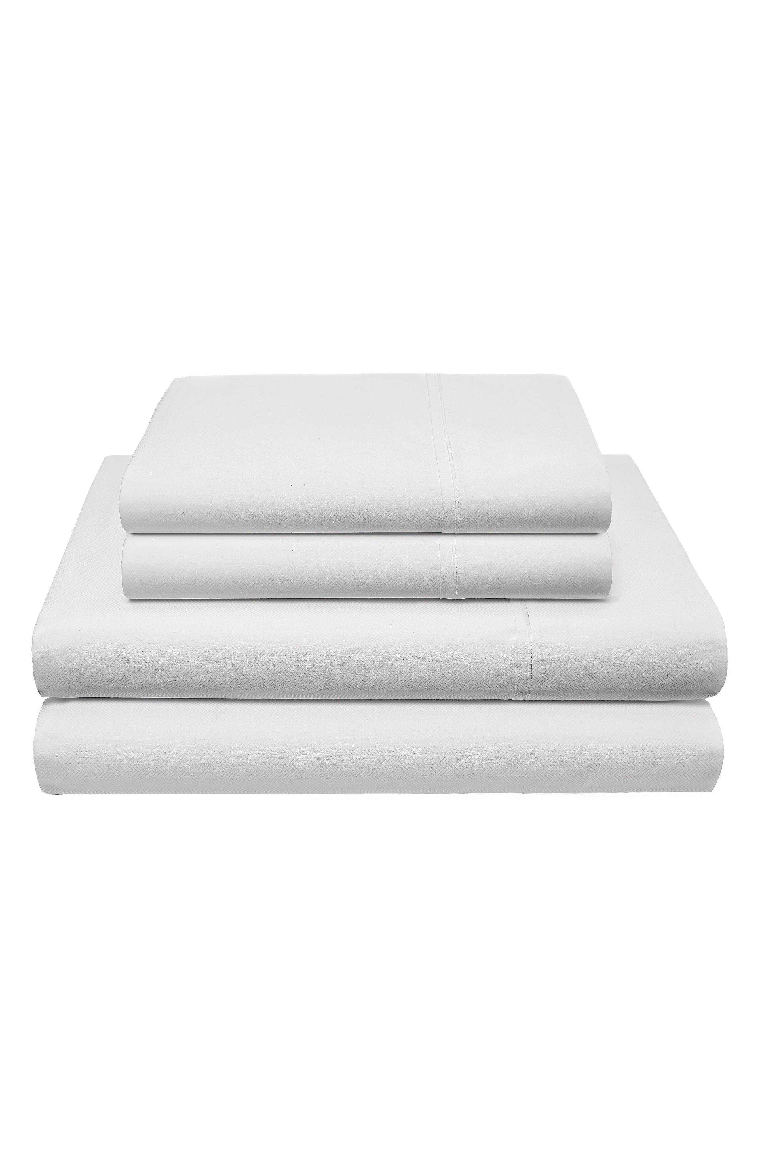 Robinson Herringbone 200 Thread Count Sheet Set,                             Main thumbnail 1, color,                             100