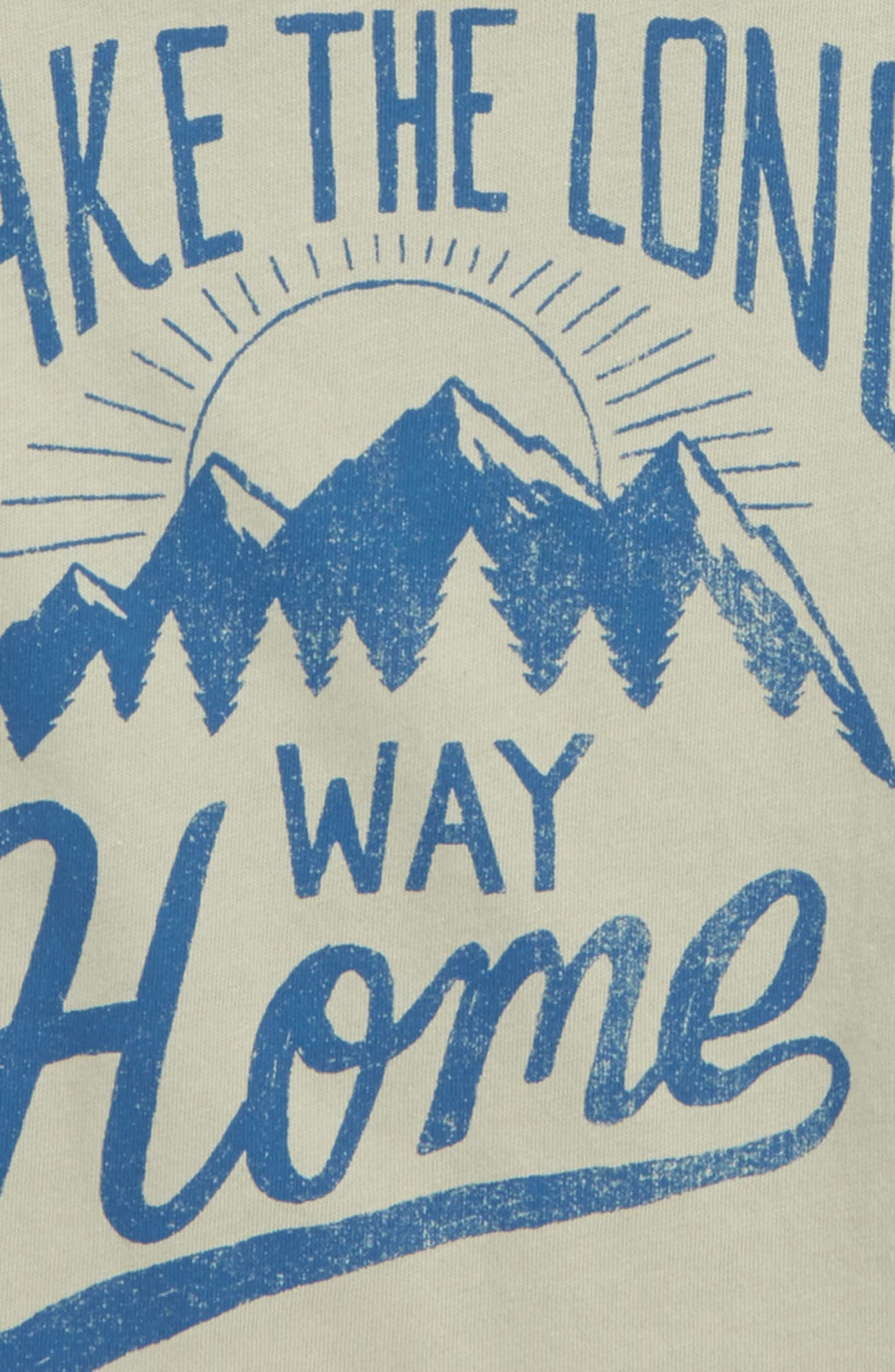 Take the Long Way Home Graphic T-Shirt,                             Alternate thumbnail 3, color,                             305