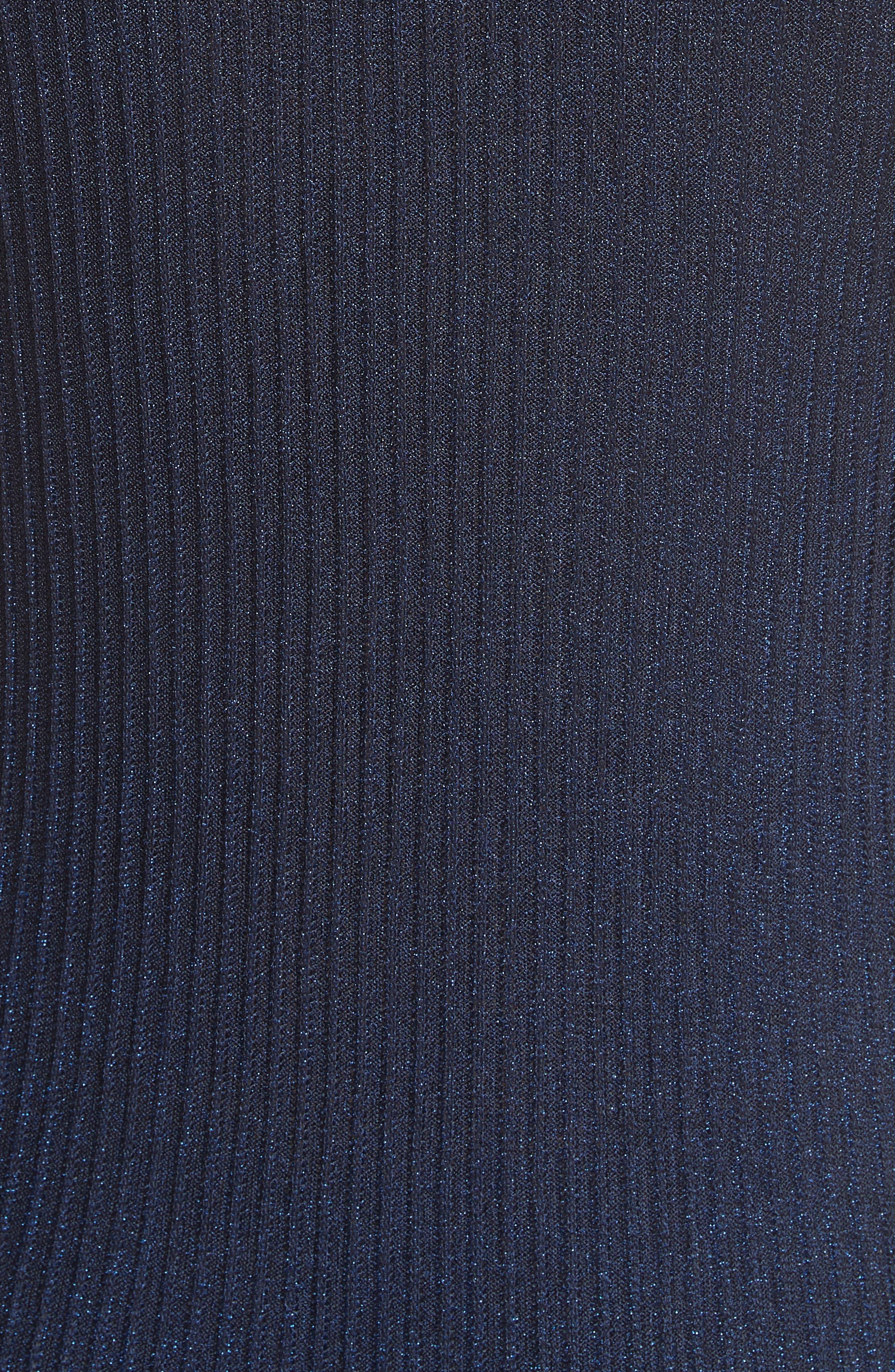 Cora Ribbed Dress,                             Alternate thumbnail 5, color,                             NAVY/ BLUE