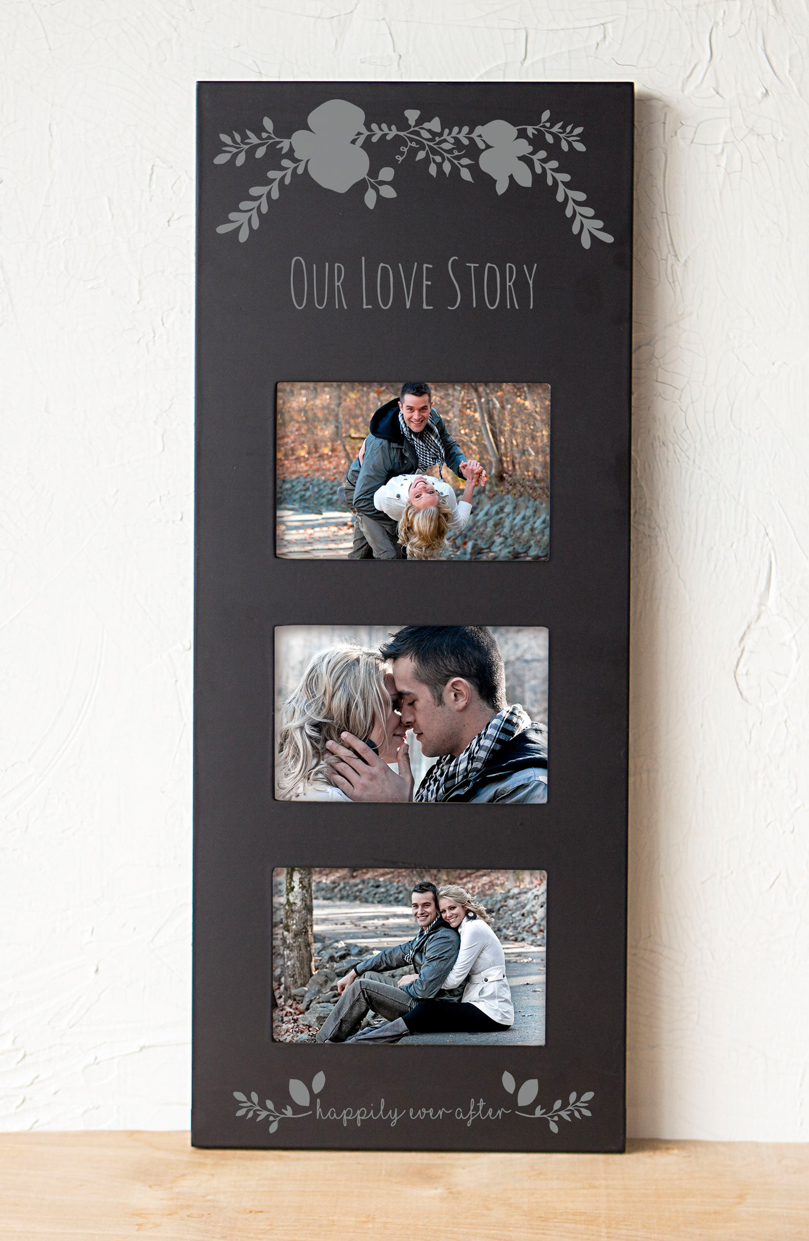 Silver Love Story 3-Window Picture Frame,                             Alternate thumbnail 6, color,                             001