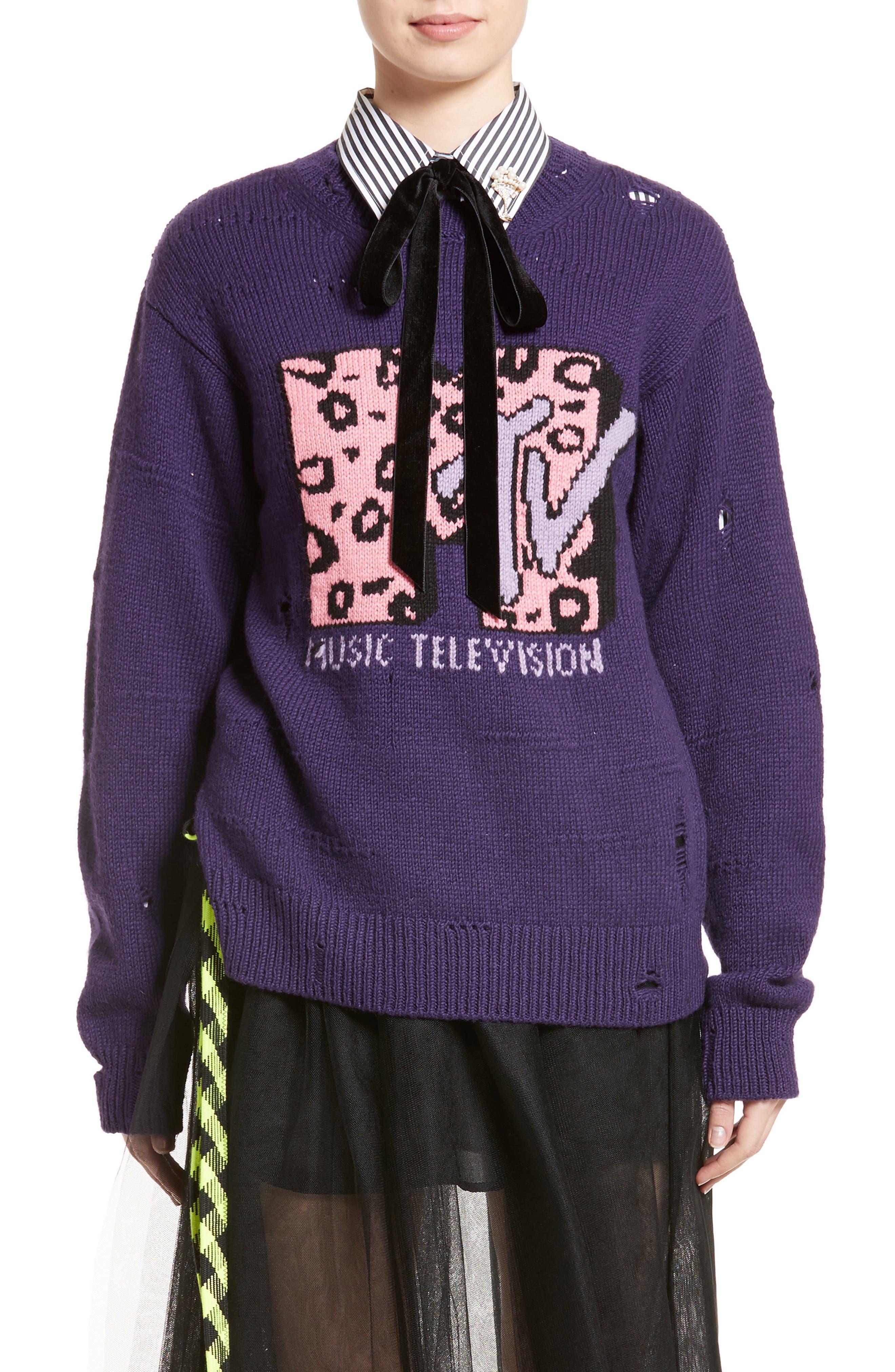 x MTV Logo Sweater, Main, color, 521
