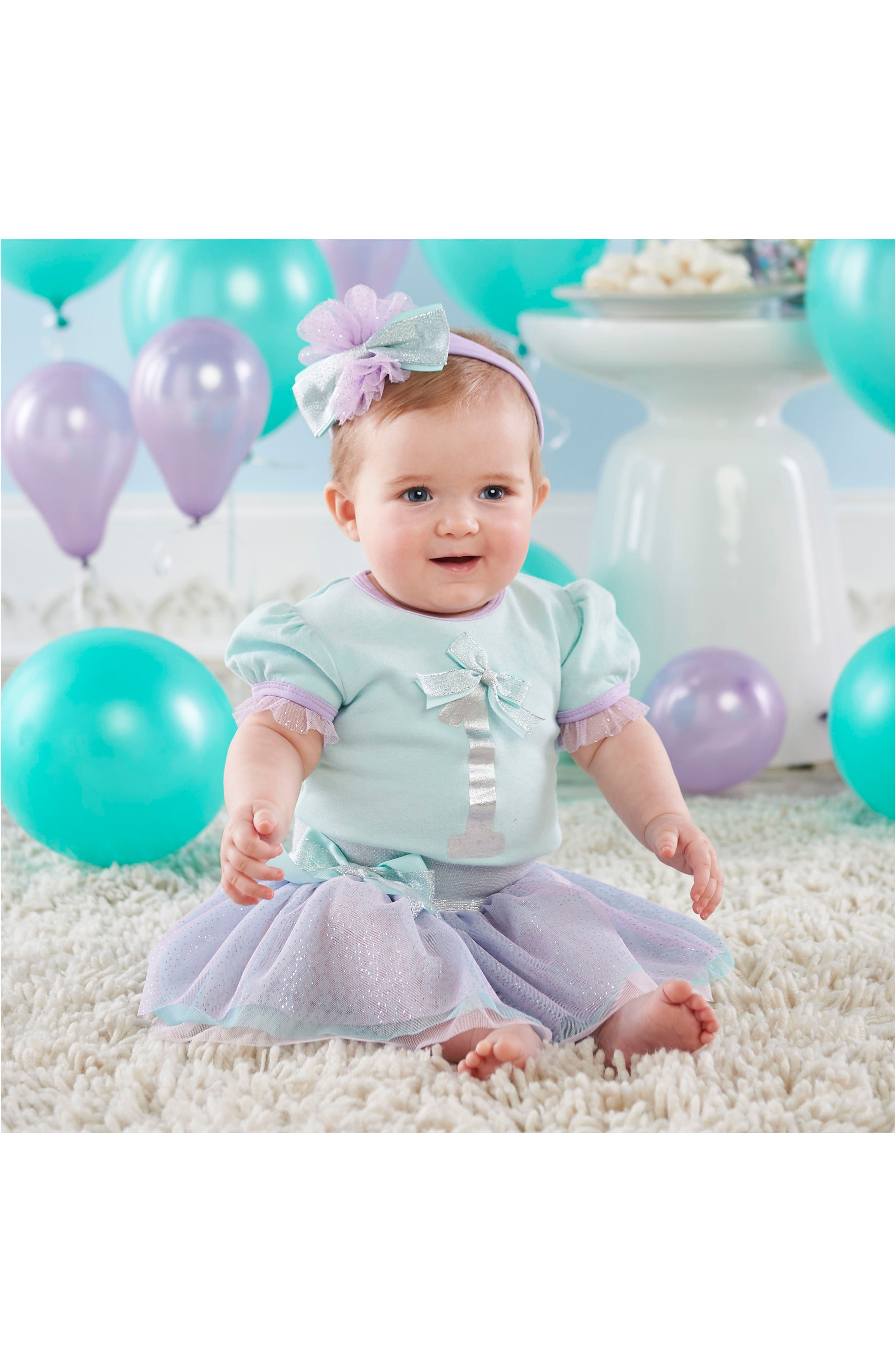 My First Birthday Bodysuit, Tutu and Head Wrap Set,                         Main,                         color, 540