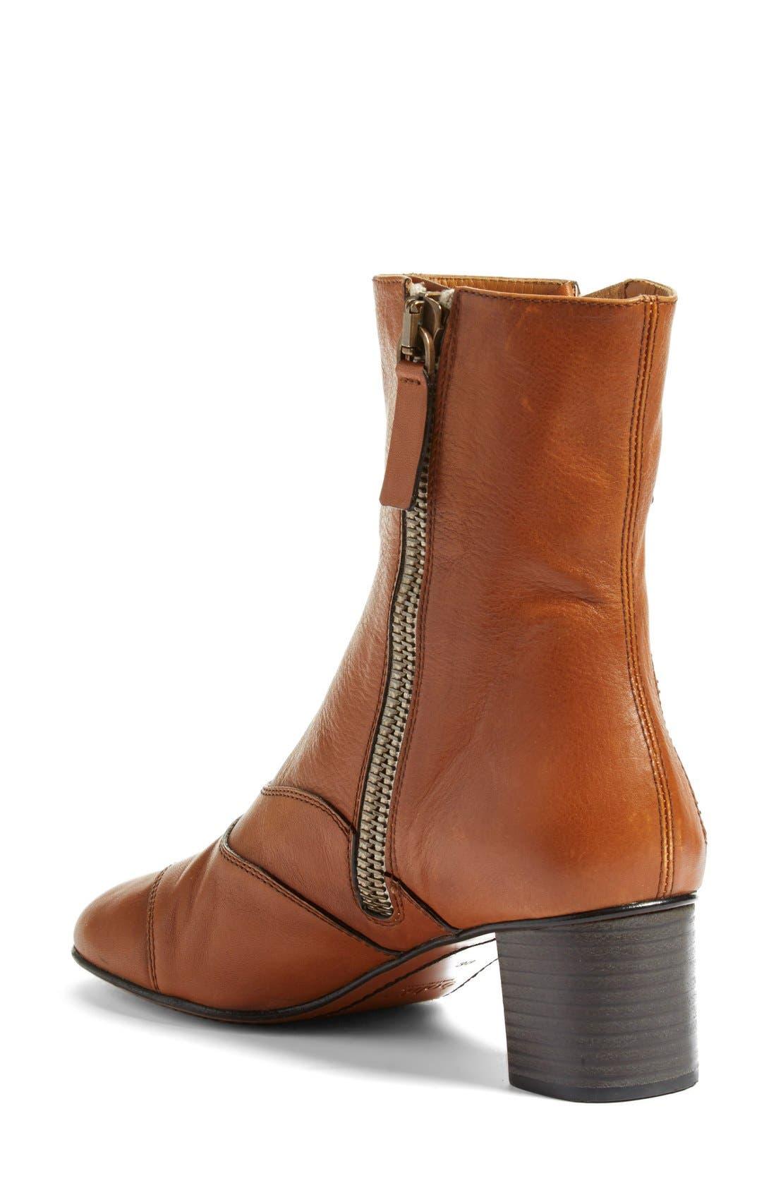 'Lexie' Block Heel Boot,                             Alternate thumbnail 4, color,