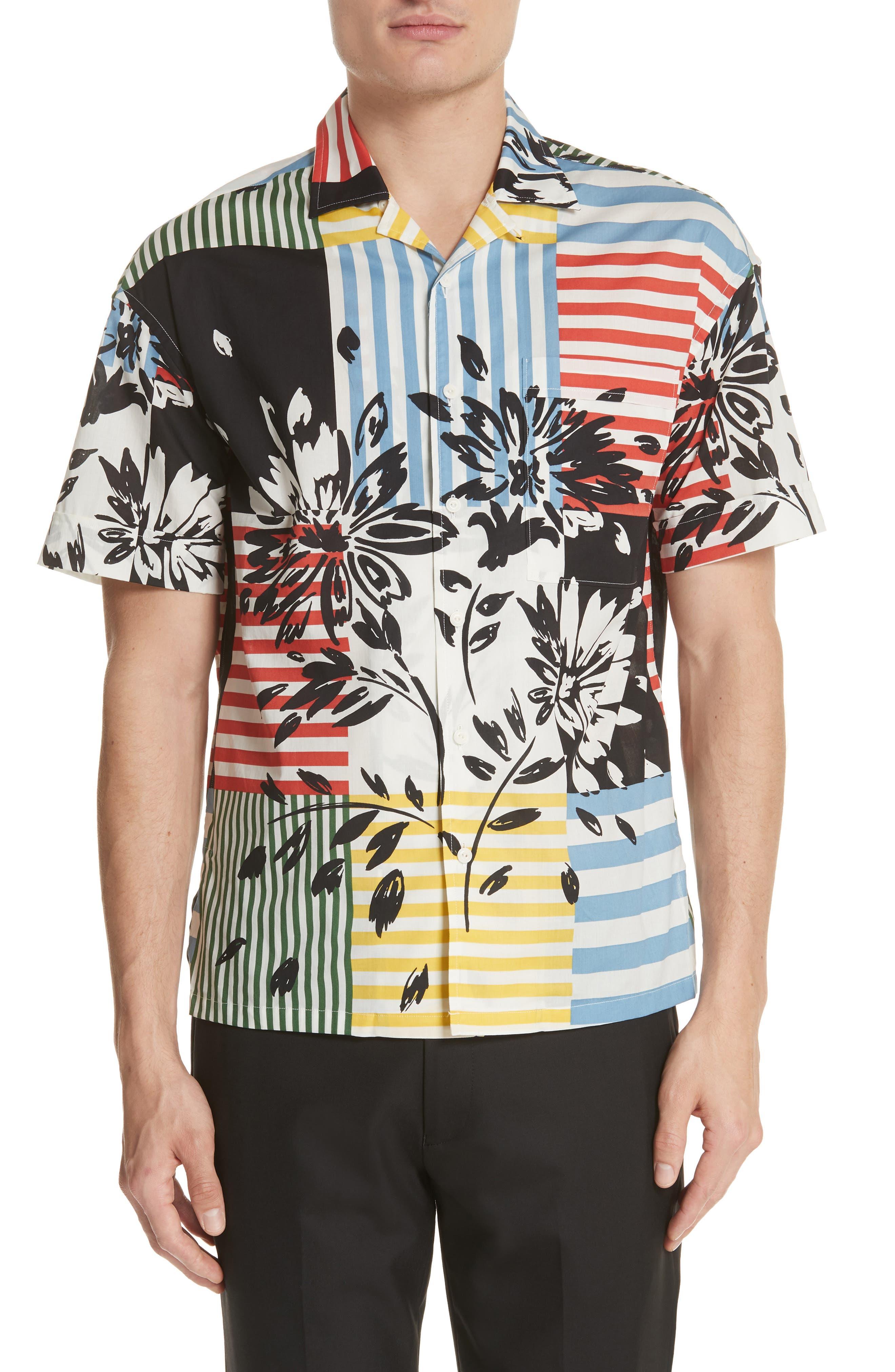 Harley Print Shirt,                         Main,                         color, 409