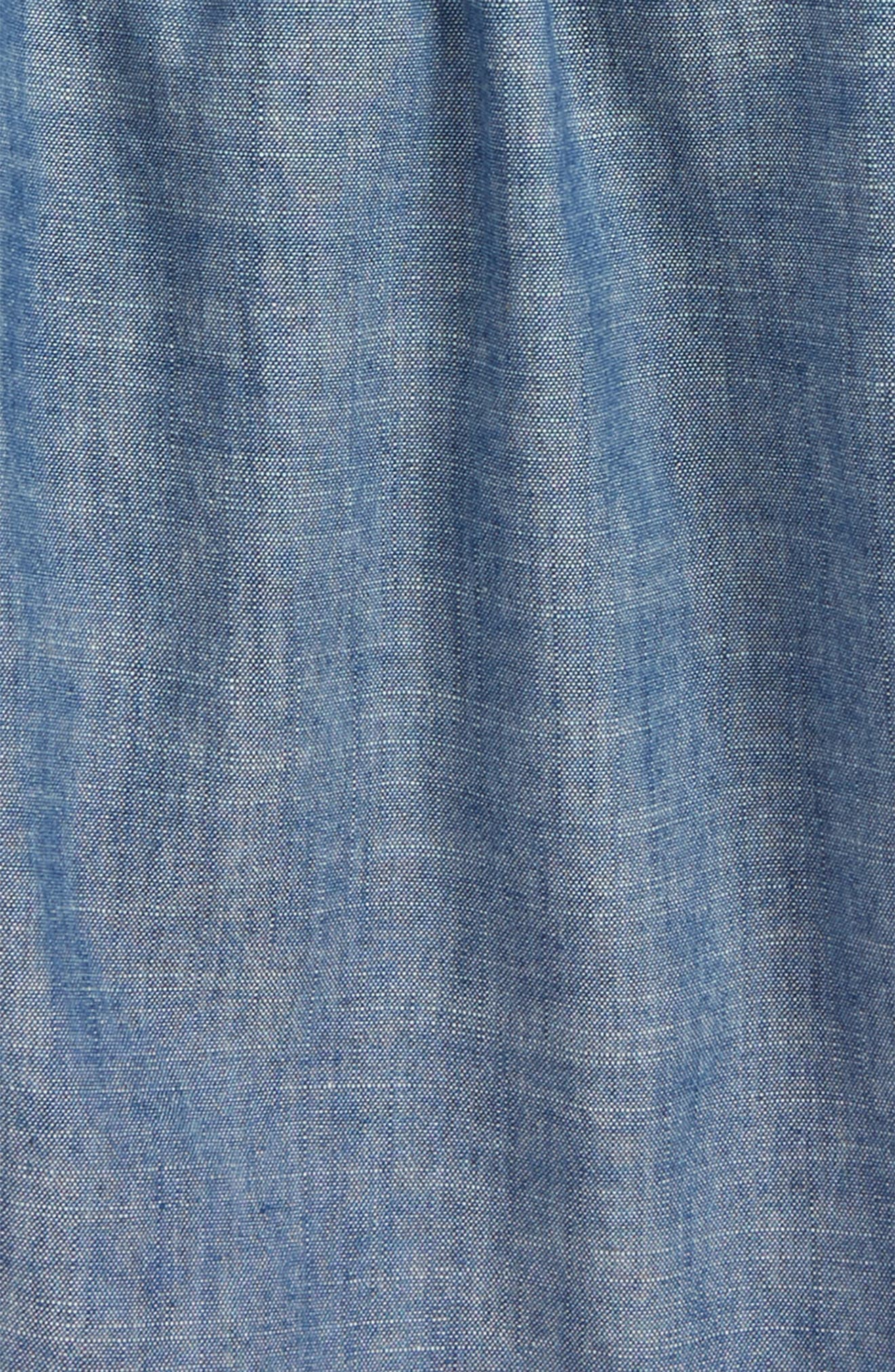 Gale Chambray Top,                             Alternate thumbnail 3, color,
