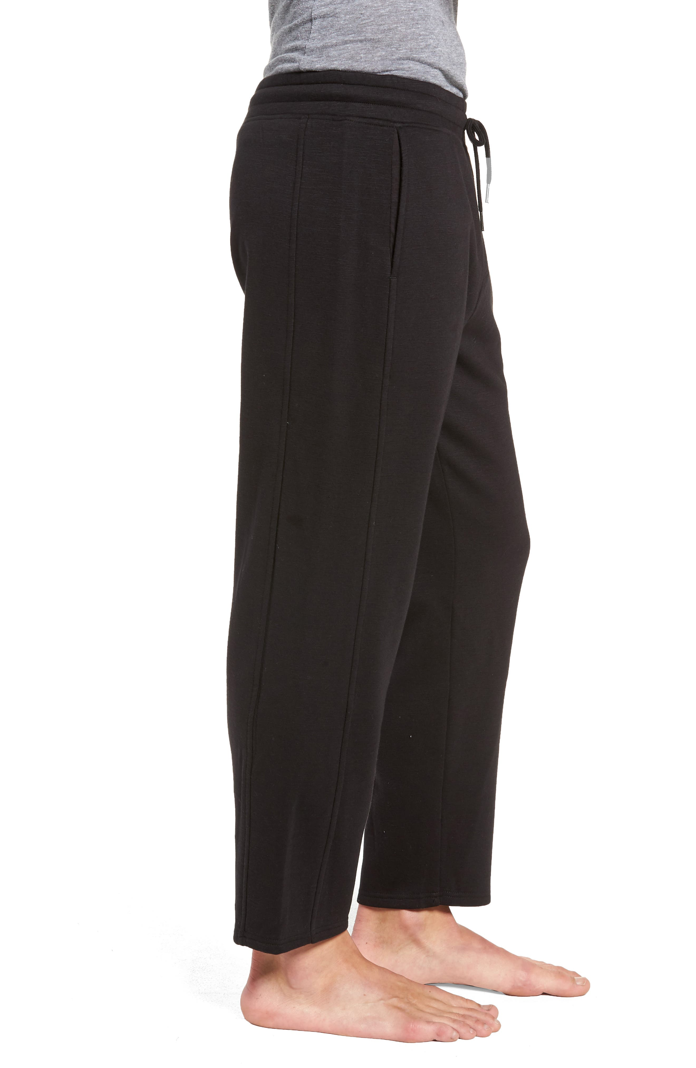 French Terry Moto Pants,                             Alternate thumbnail 3, color,                             BLACK HEATHER