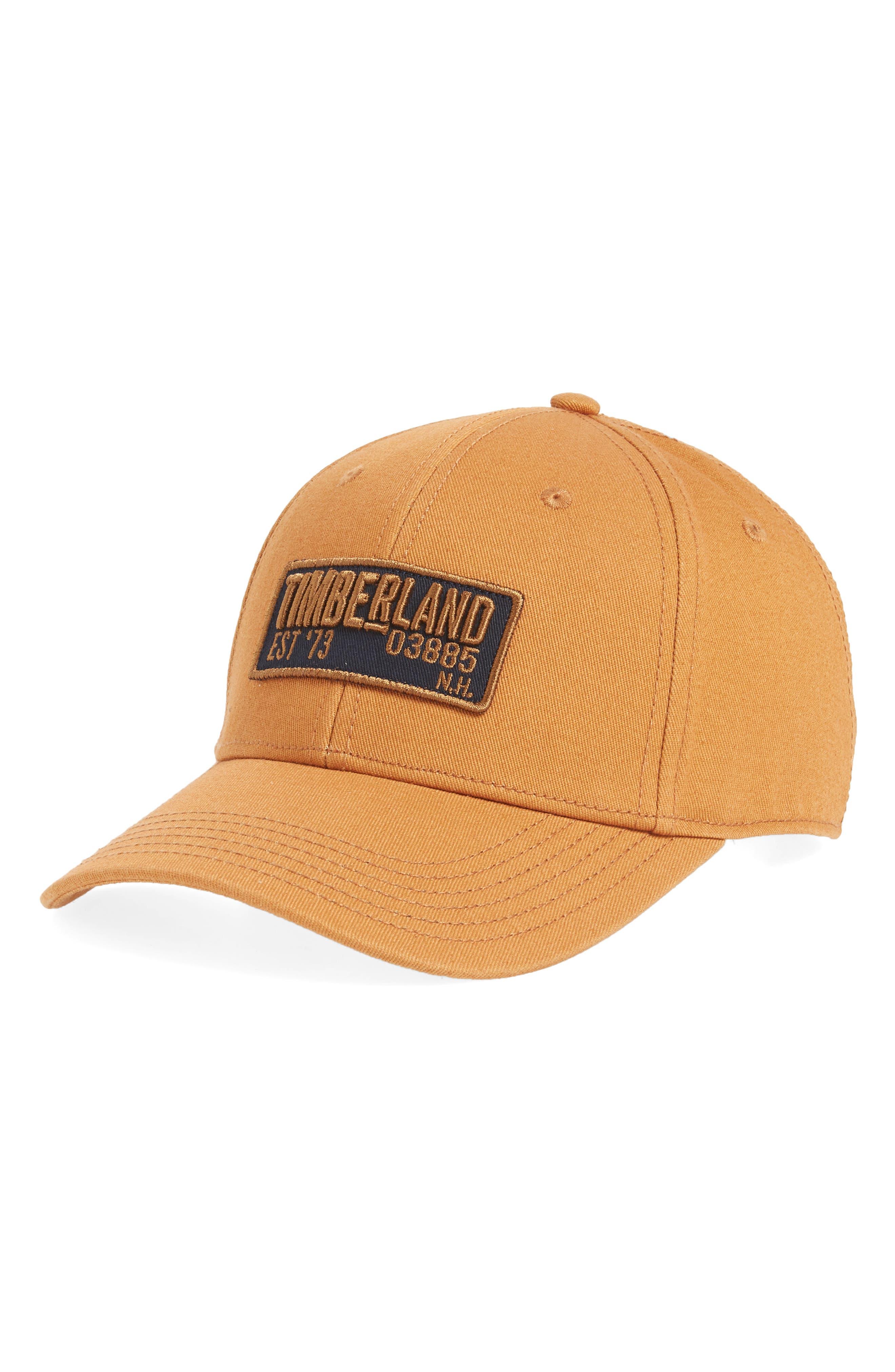 TIMBERLAND Kittery Baseball Cap, Main, color, WHEAT
