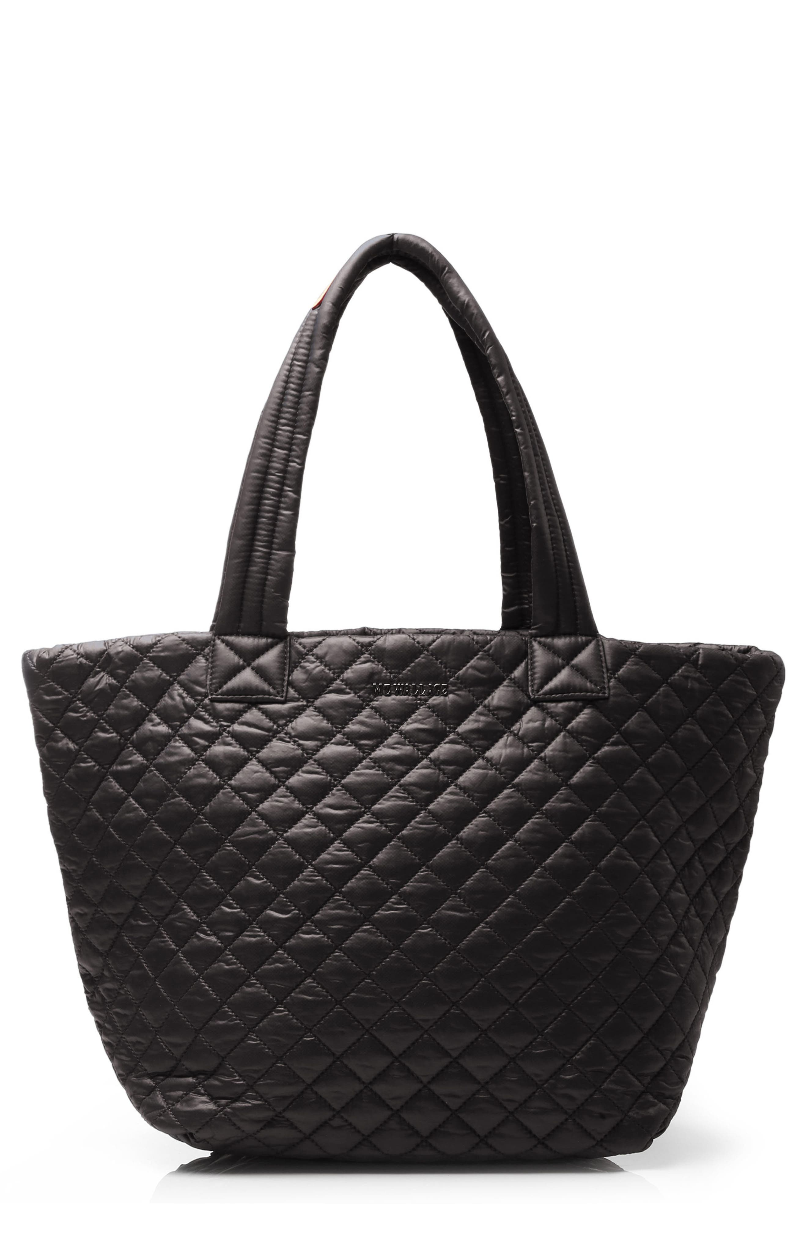 Medium Metro Tote,                         Main,                         color, BLACK