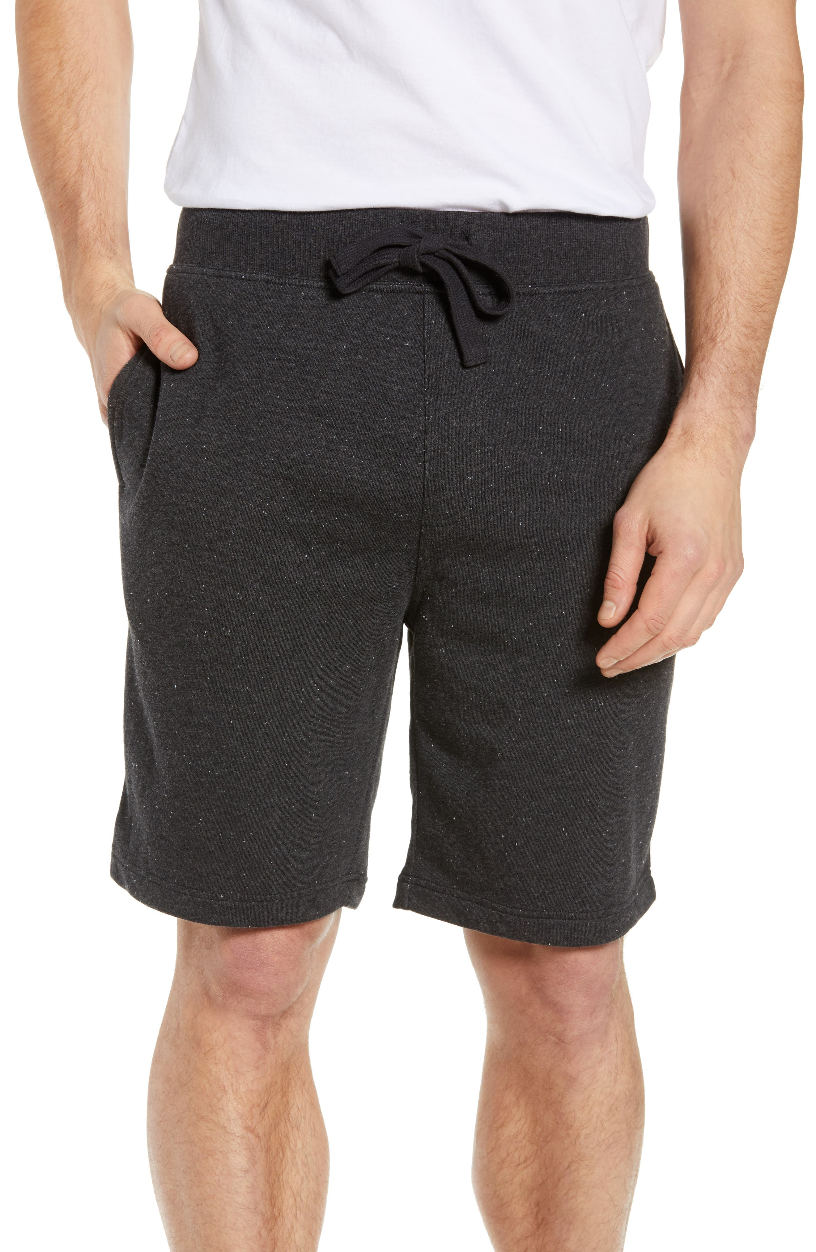 UGG<SUP>®</SUP>,                             Zavier Terry Lounge Shorts,                             Main thumbnail 1, color,                             BLACK