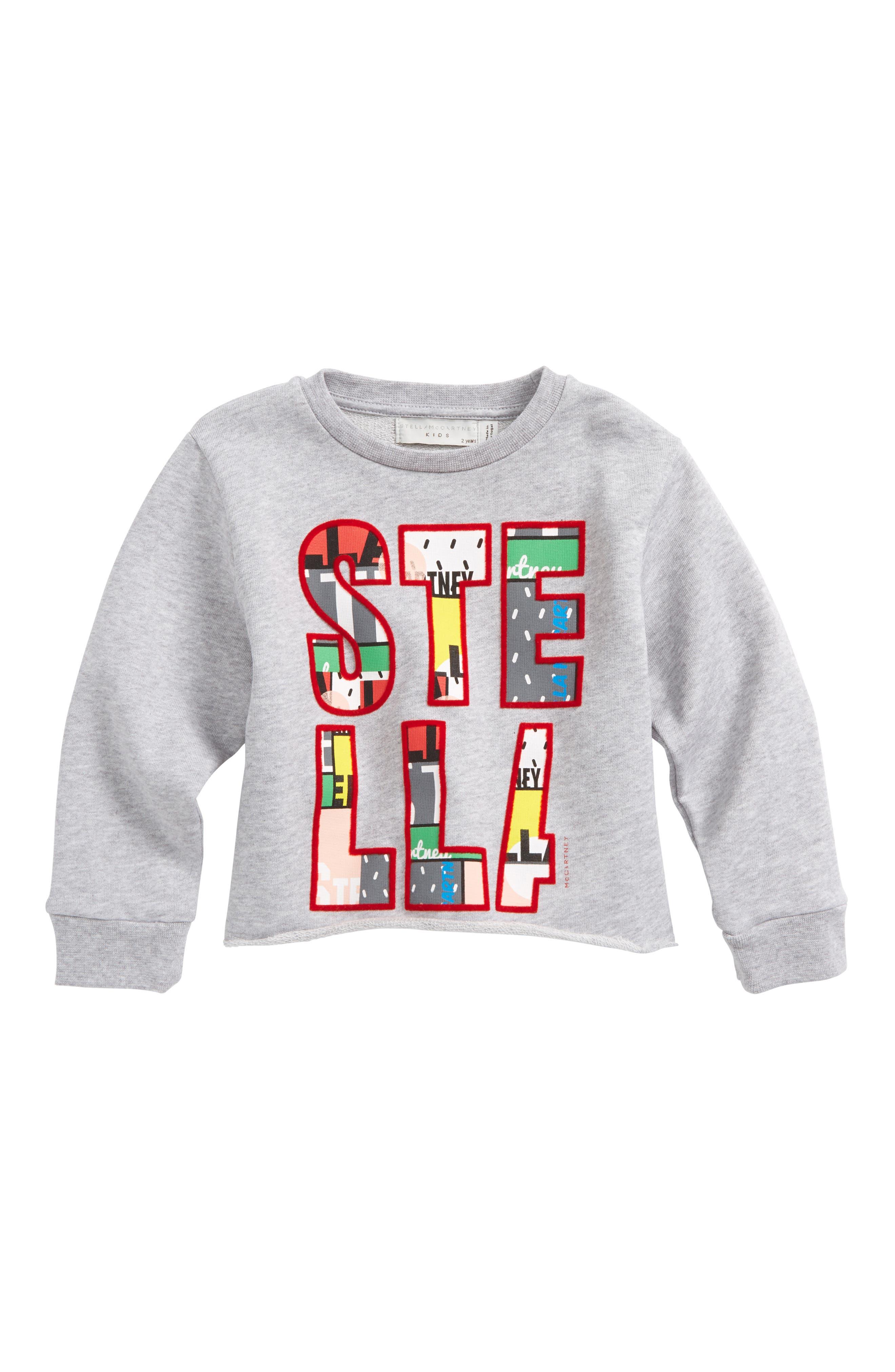 STELLA MCCARTNEY,                             June Crop Sweatshirt,                             Main thumbnail 1, color,                             021