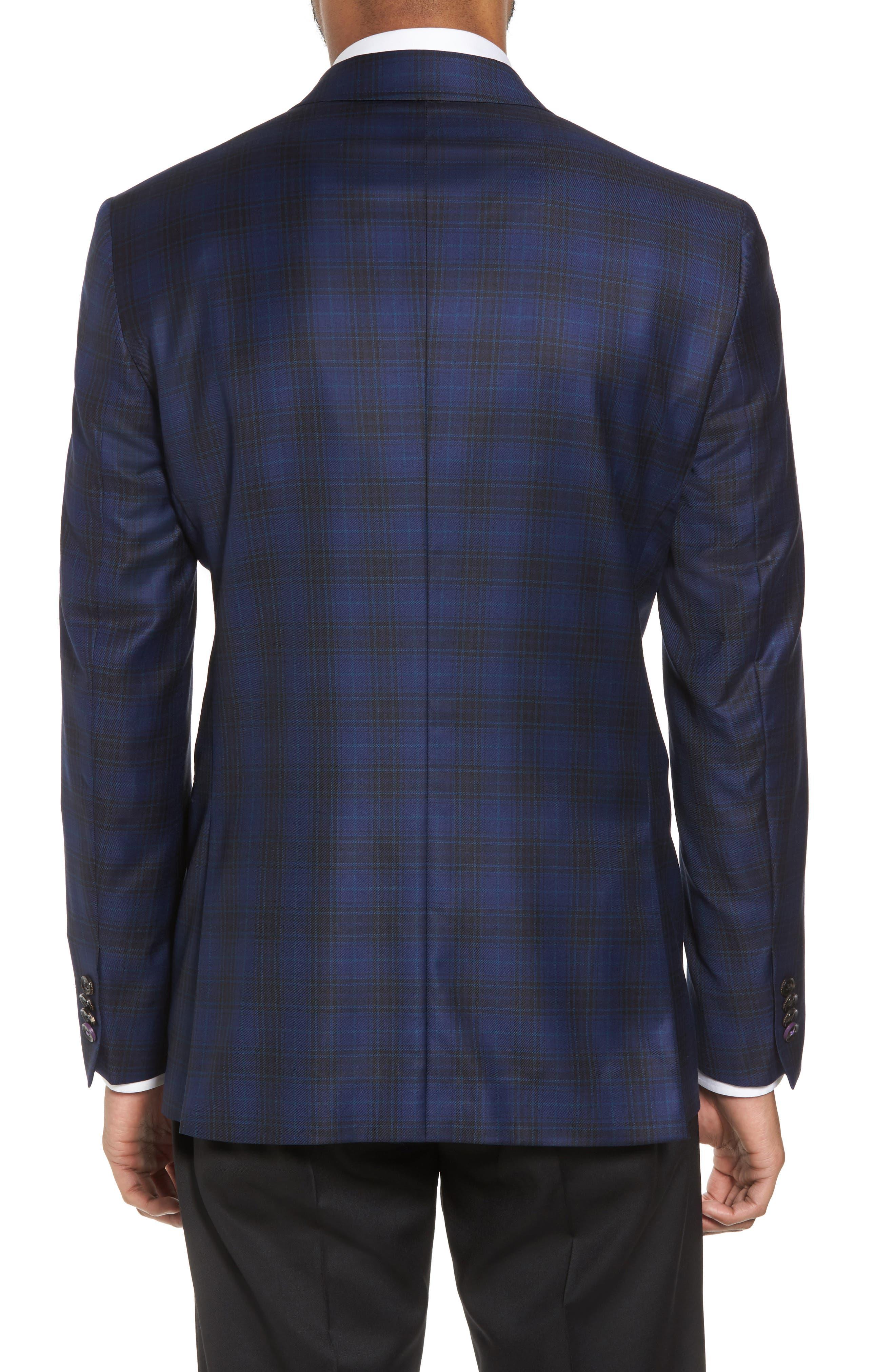 Jay Trim Fit Plaid Wool Sport Coat,                             Alternate thumbnail 2, color,