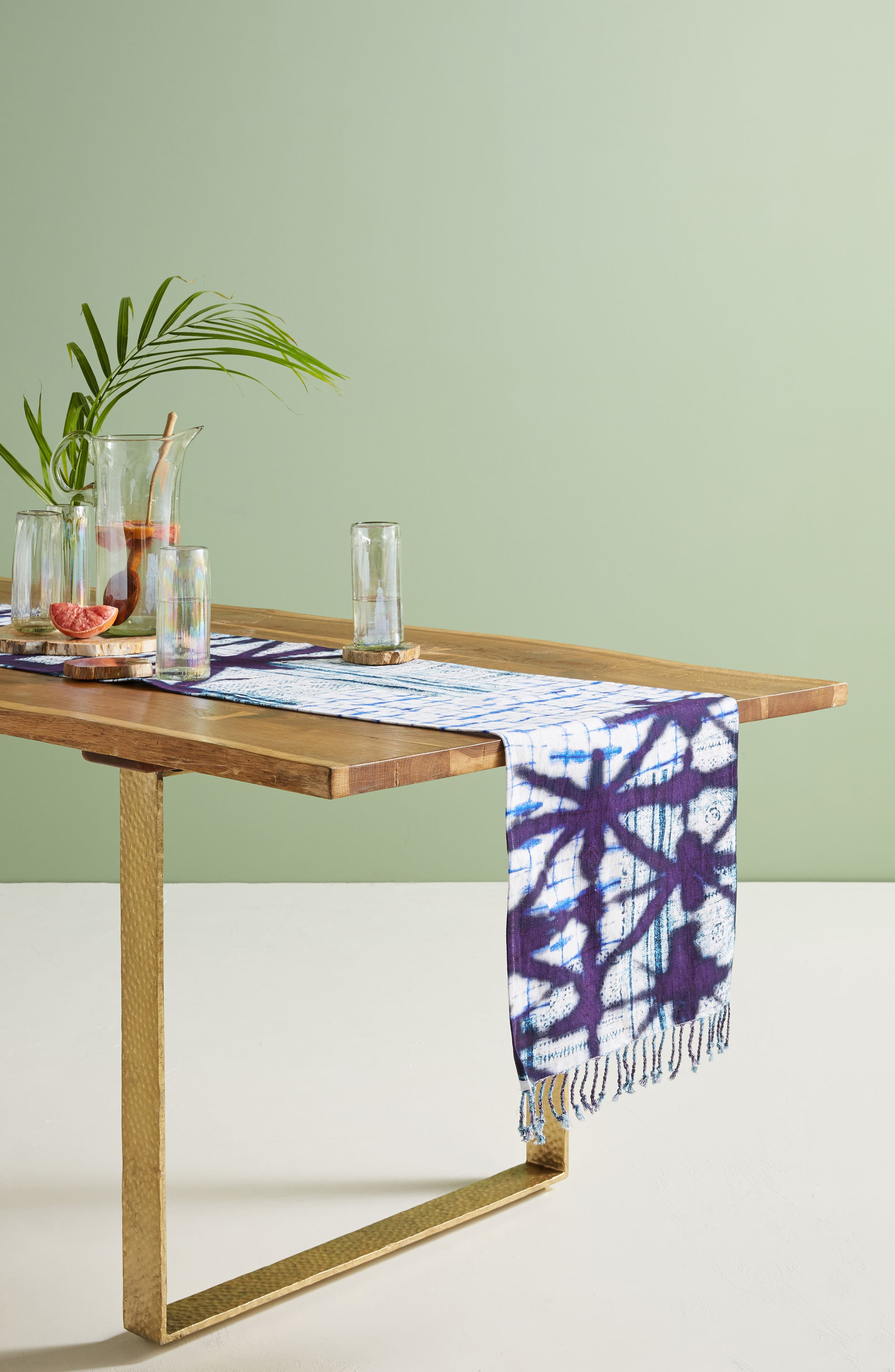 Anthropologie Alara Table Runner Size One Size  Blue