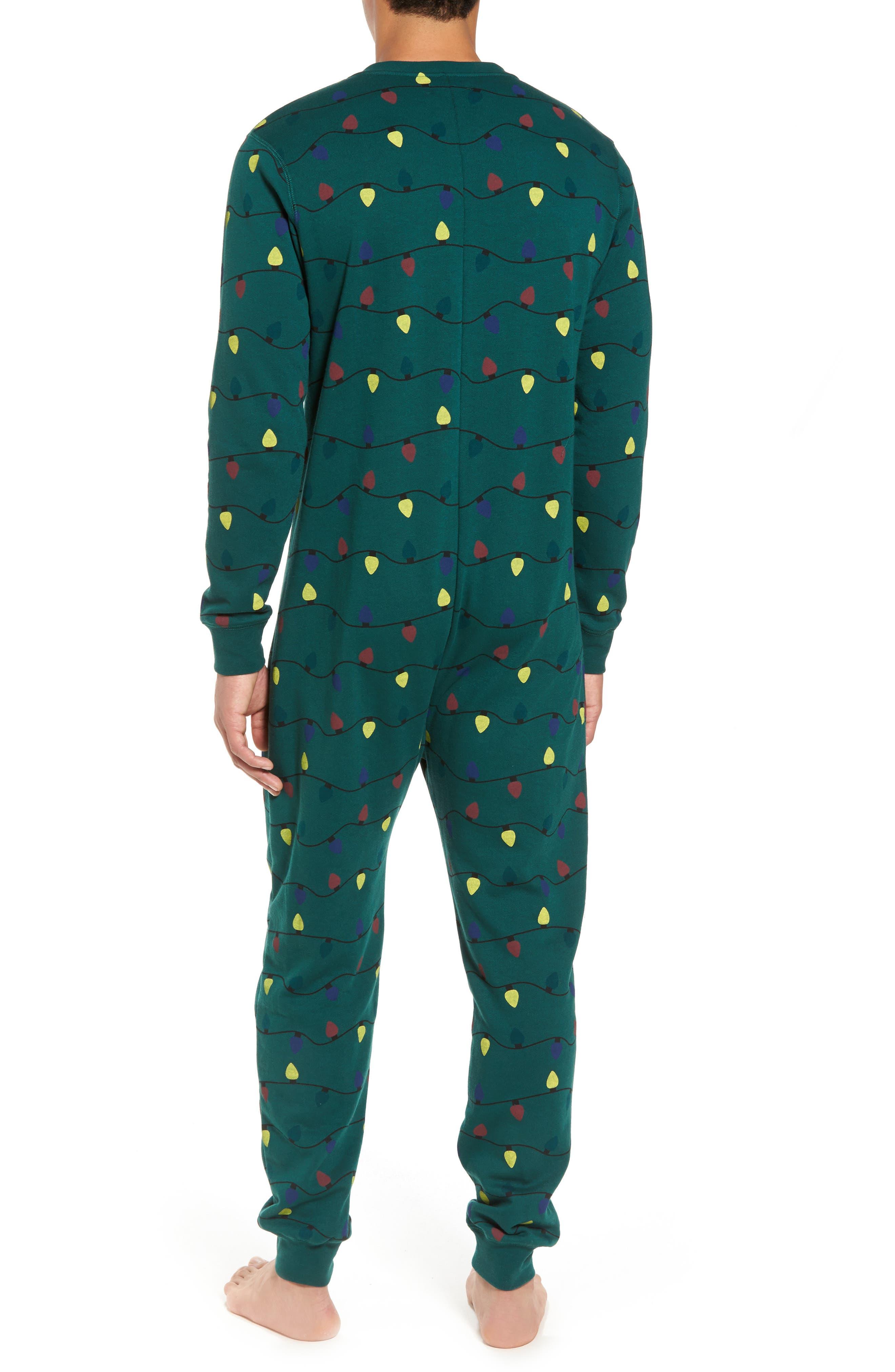Fleece One-Piece Pajamas,                             Alternate thumbnail 8, color,